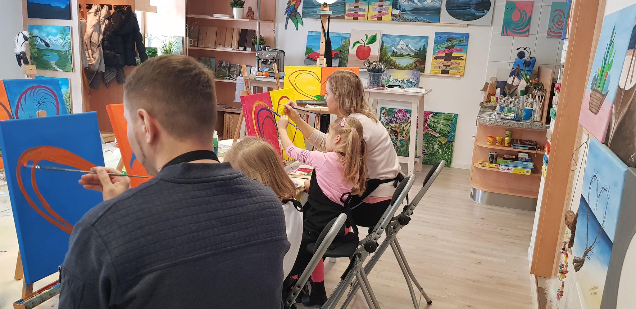 Eltern-Kind-Malen im Januar 2019
