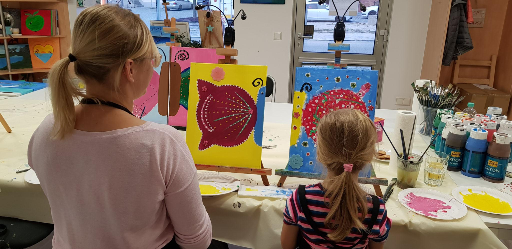 Eltern-Kind-Malen Schmetterling