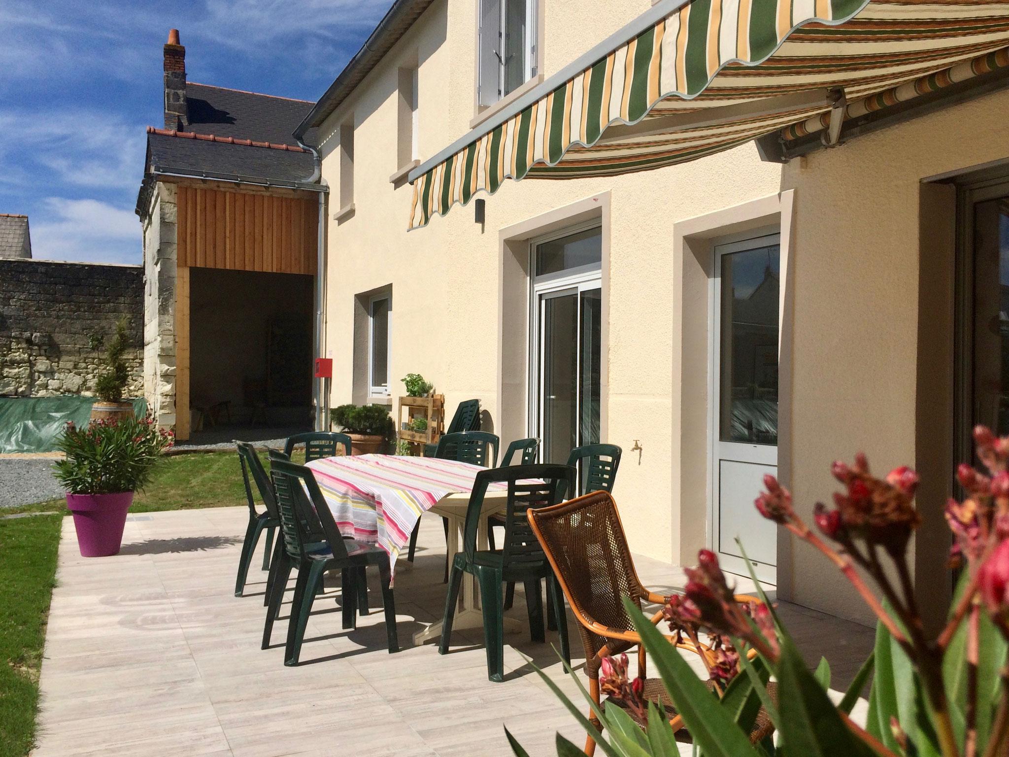 Gîte des Nerleux, St. Cyr en Bourg, Terrasse