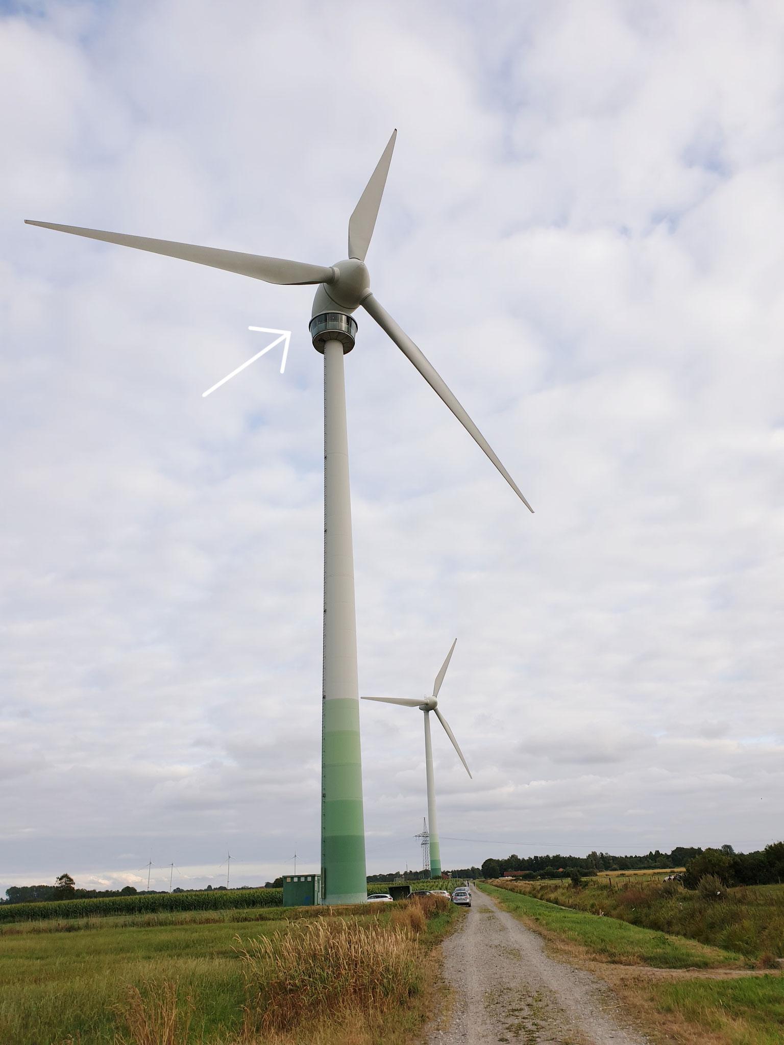 Ausflugsziel: Begehbare Windkraftanlage in Westerholt, ca. 30 km von der Fewo