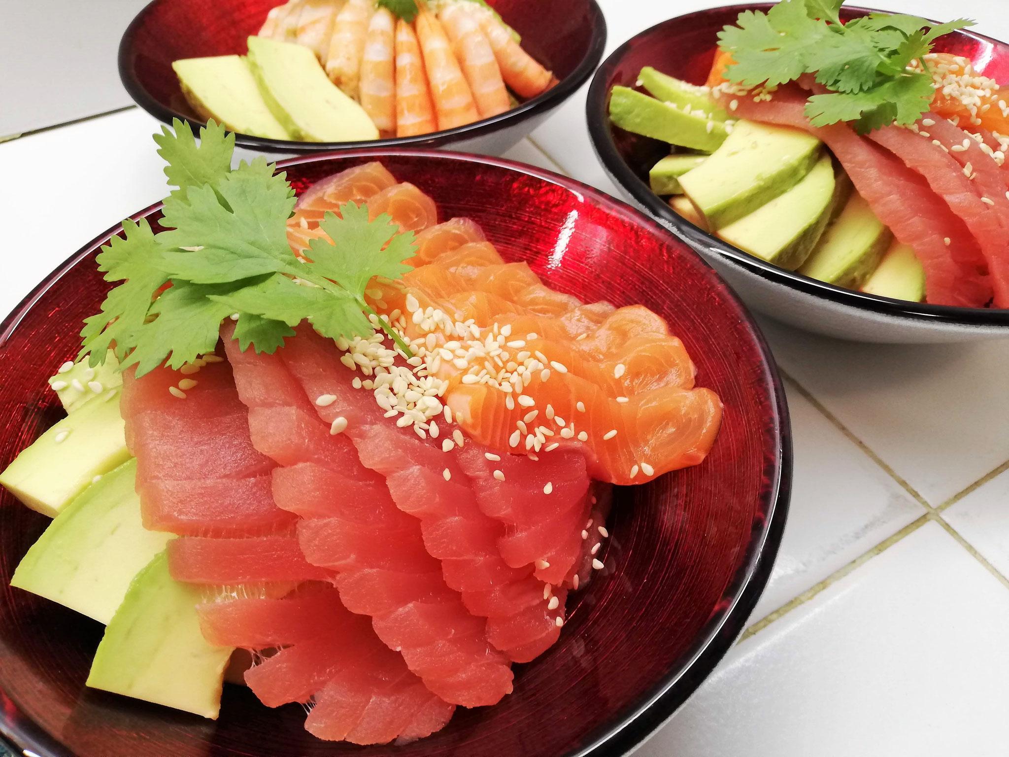 Chirashis thon saumon