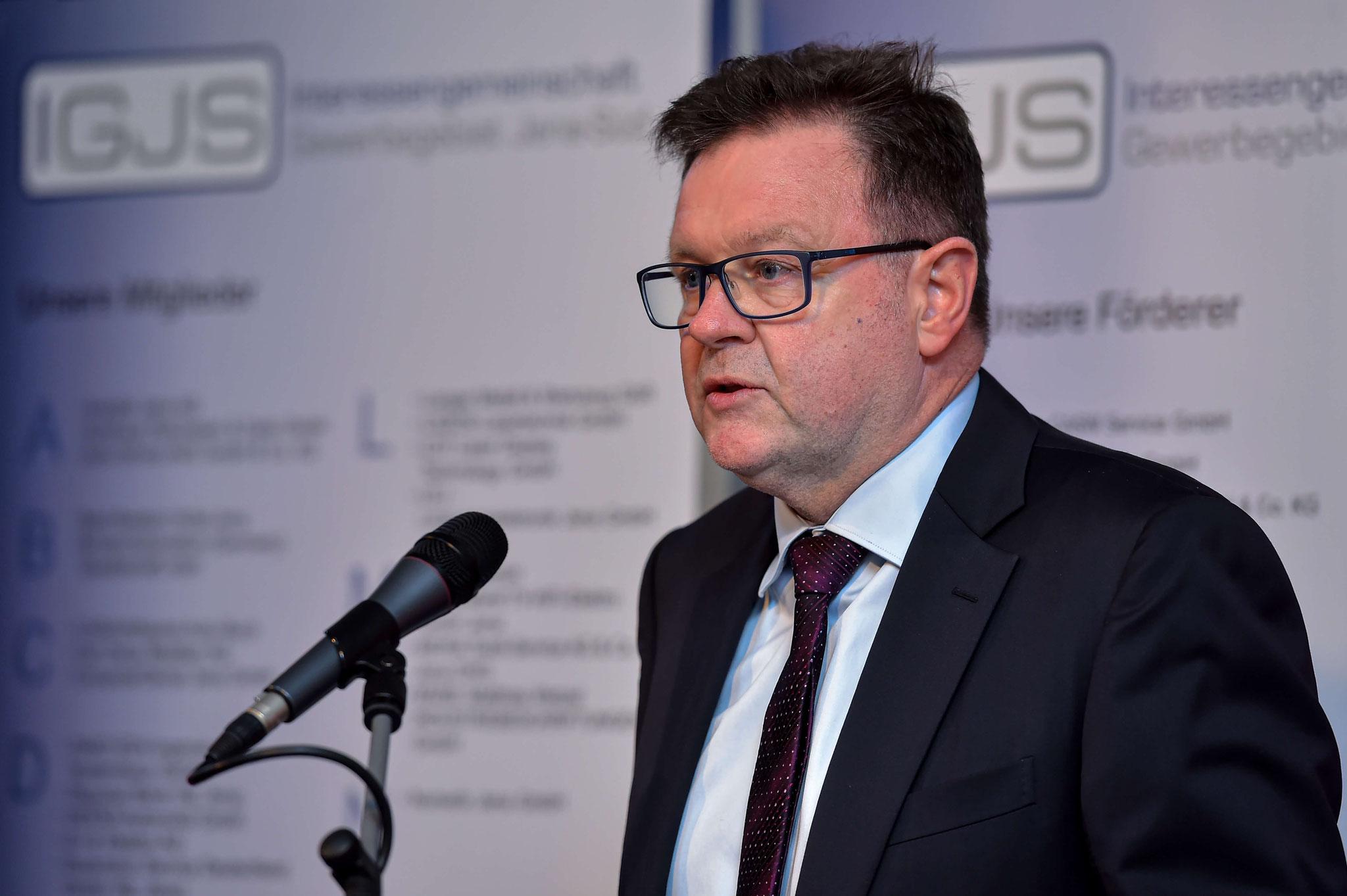 Begrüßung der Gäste durch Frank Heuer - Vorstandssprecher der IGJS