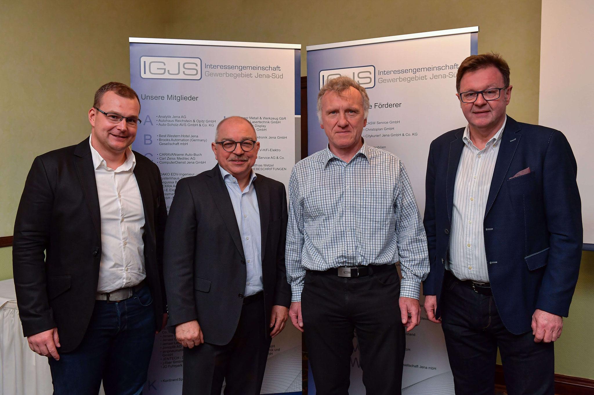 neuer Vorstand der IGJS - Andreas Steps, Wilfried Opitz, Dr. Fred Grunert, Frank Heuer (v.l.n.r.)