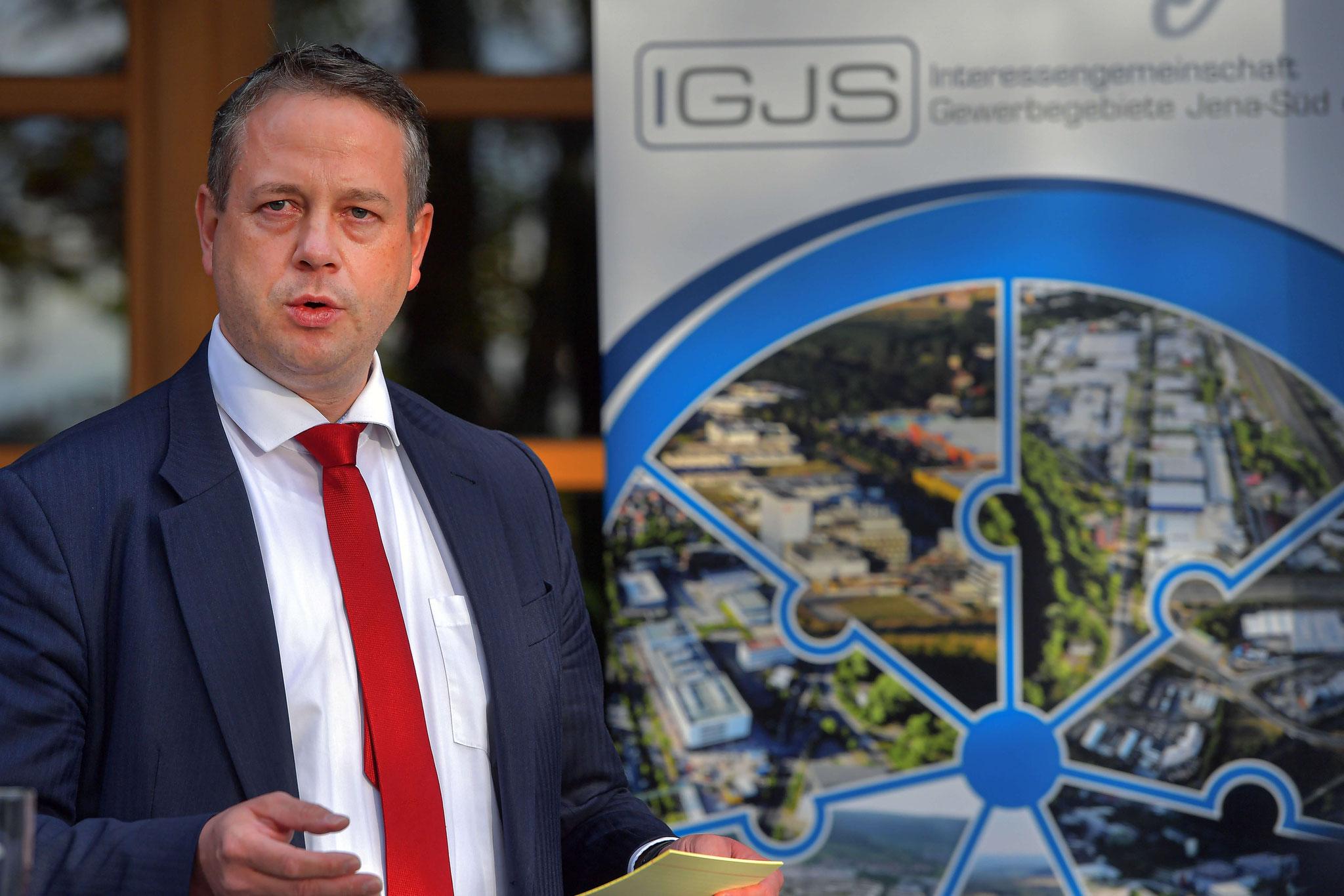 Michael Rabich (Sparkasse Jena-Saale-Holzland) berichtet über die Allianz der Jenaer Wirtschaft