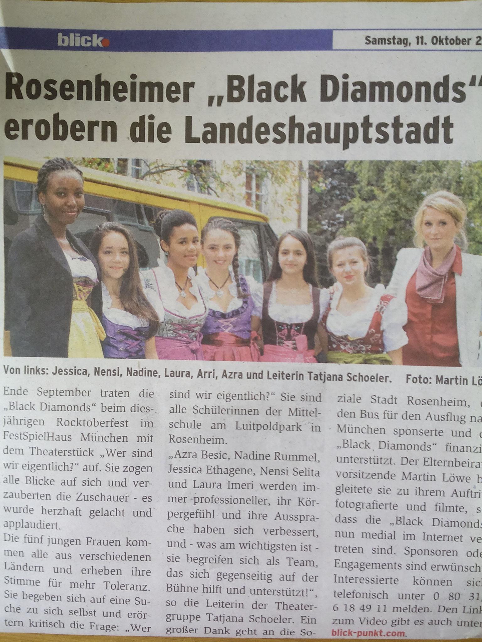 Theatergruppe Black Diamonds Auftritt am Festspielhaus München