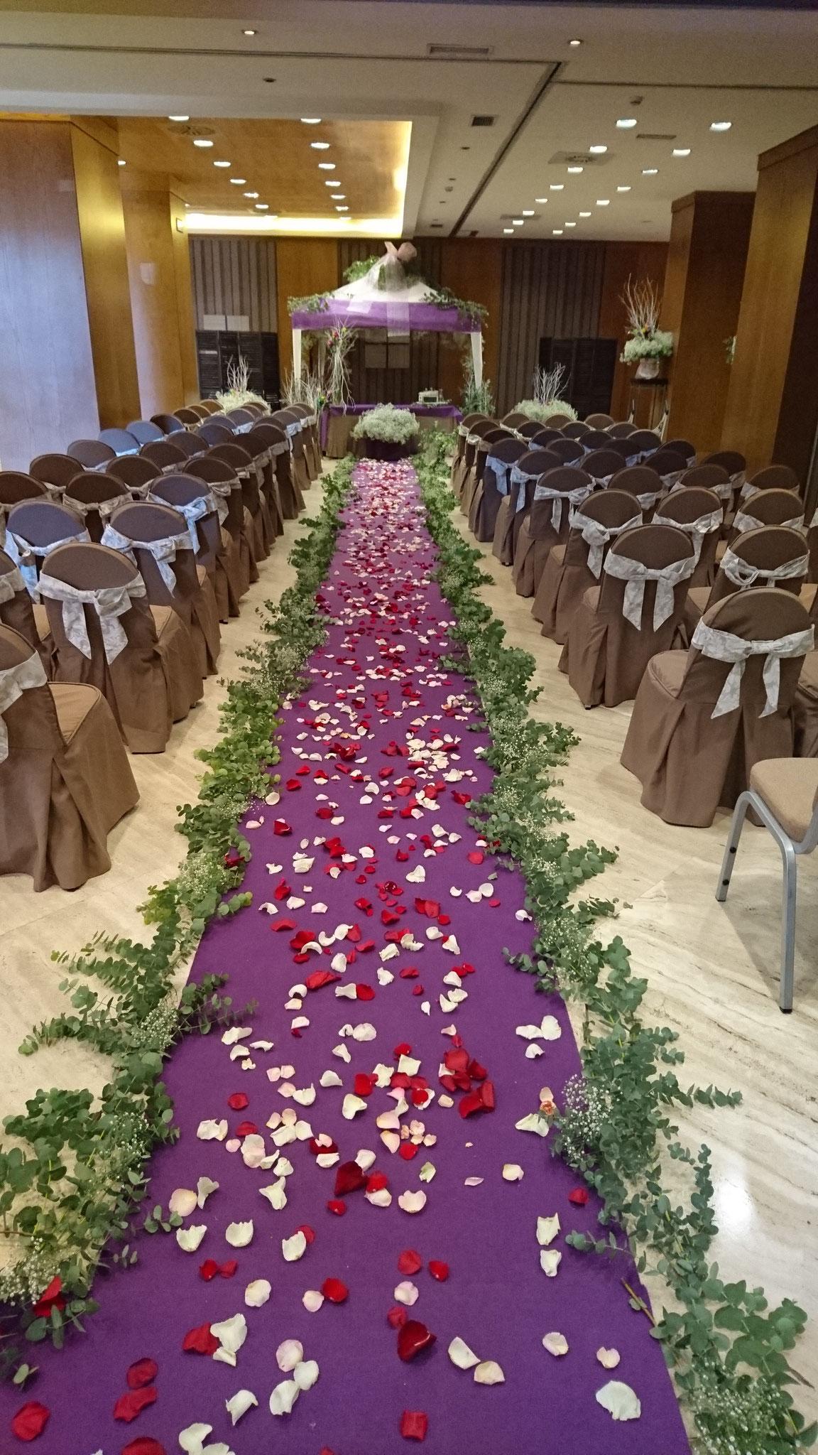 Decoración Salón Hotel Córdoba Center boda civil