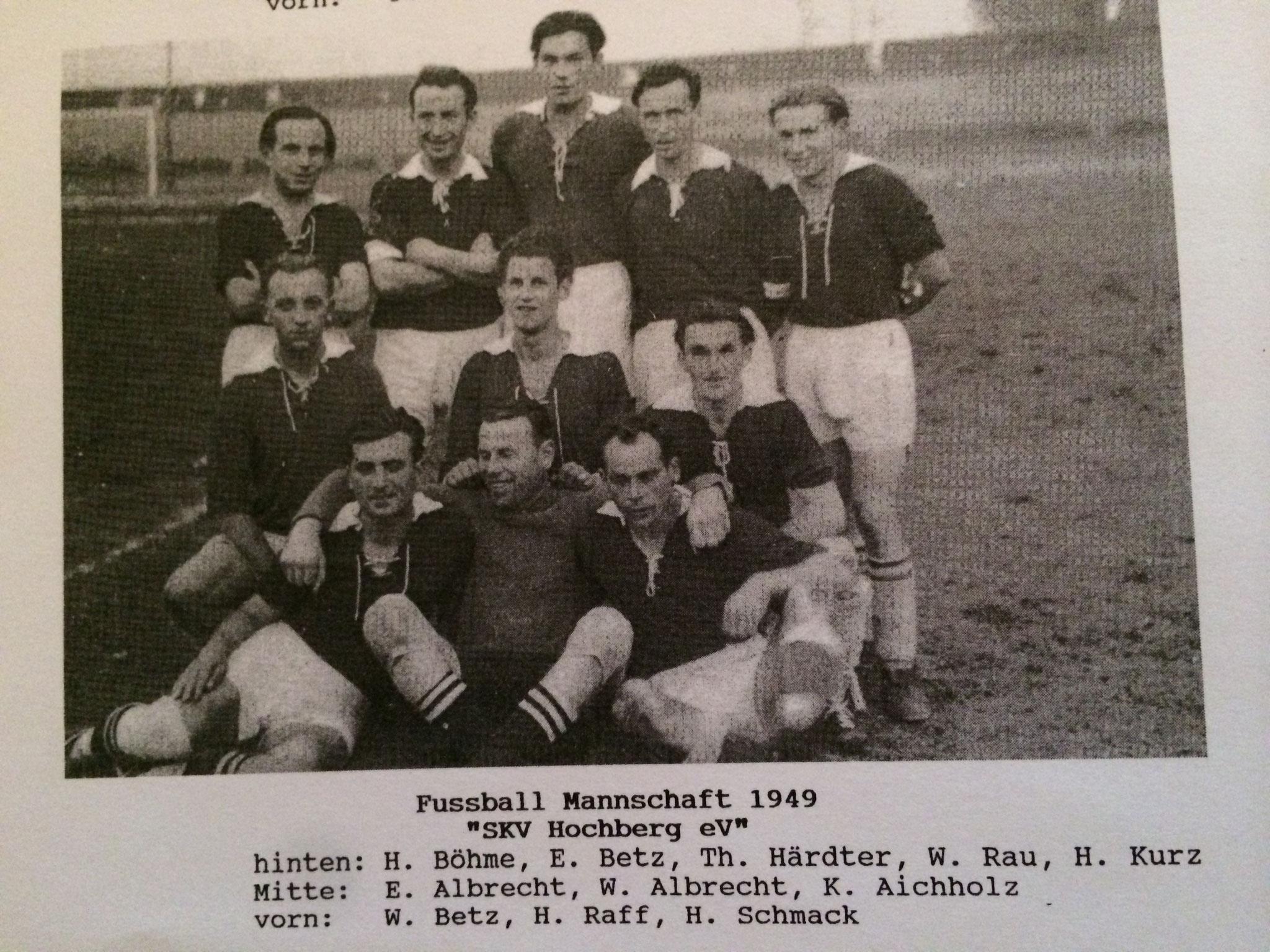 1. Mannschaft - Saison 1948 / 1949