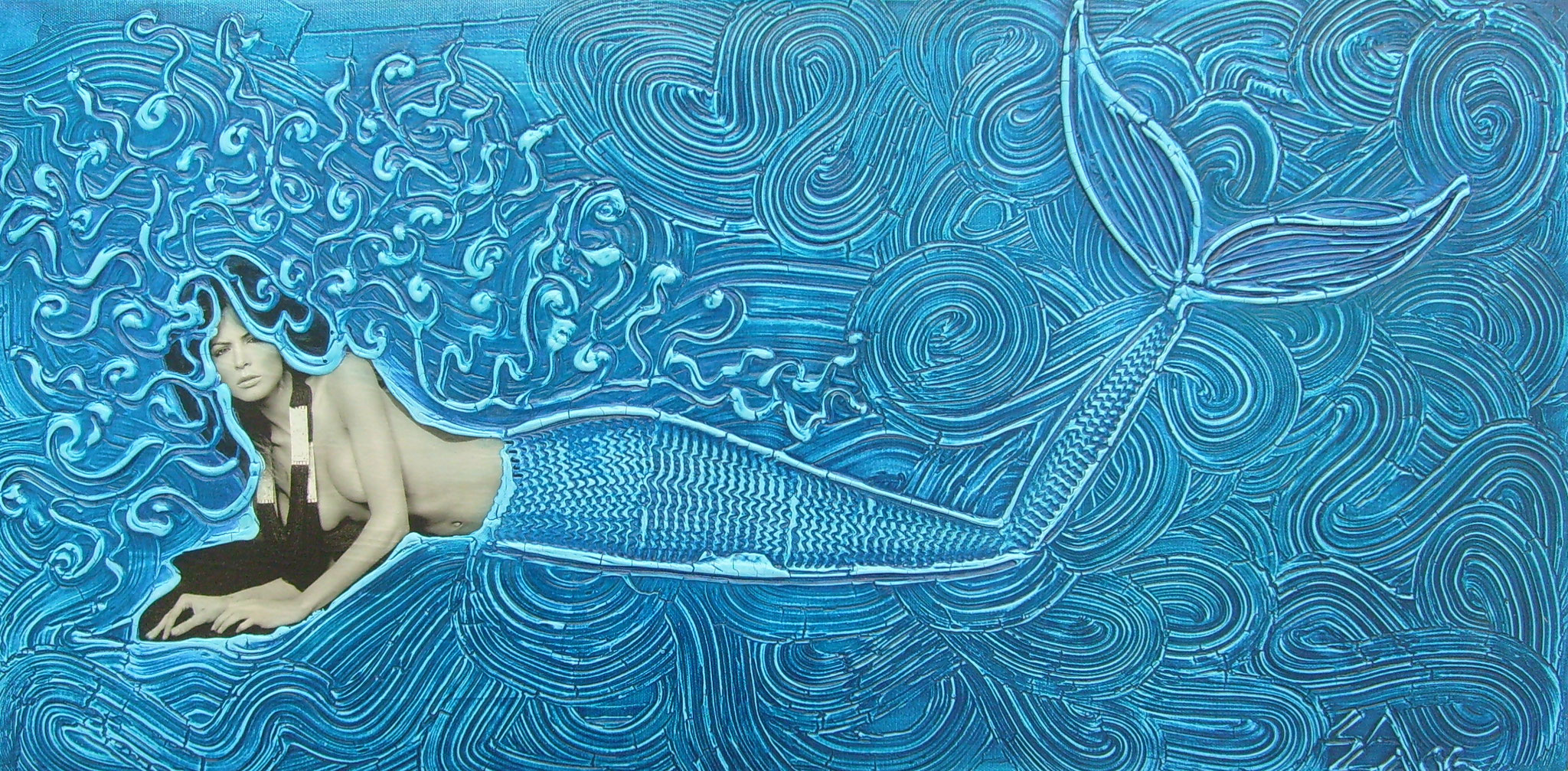 reclining serena, 40x80cm