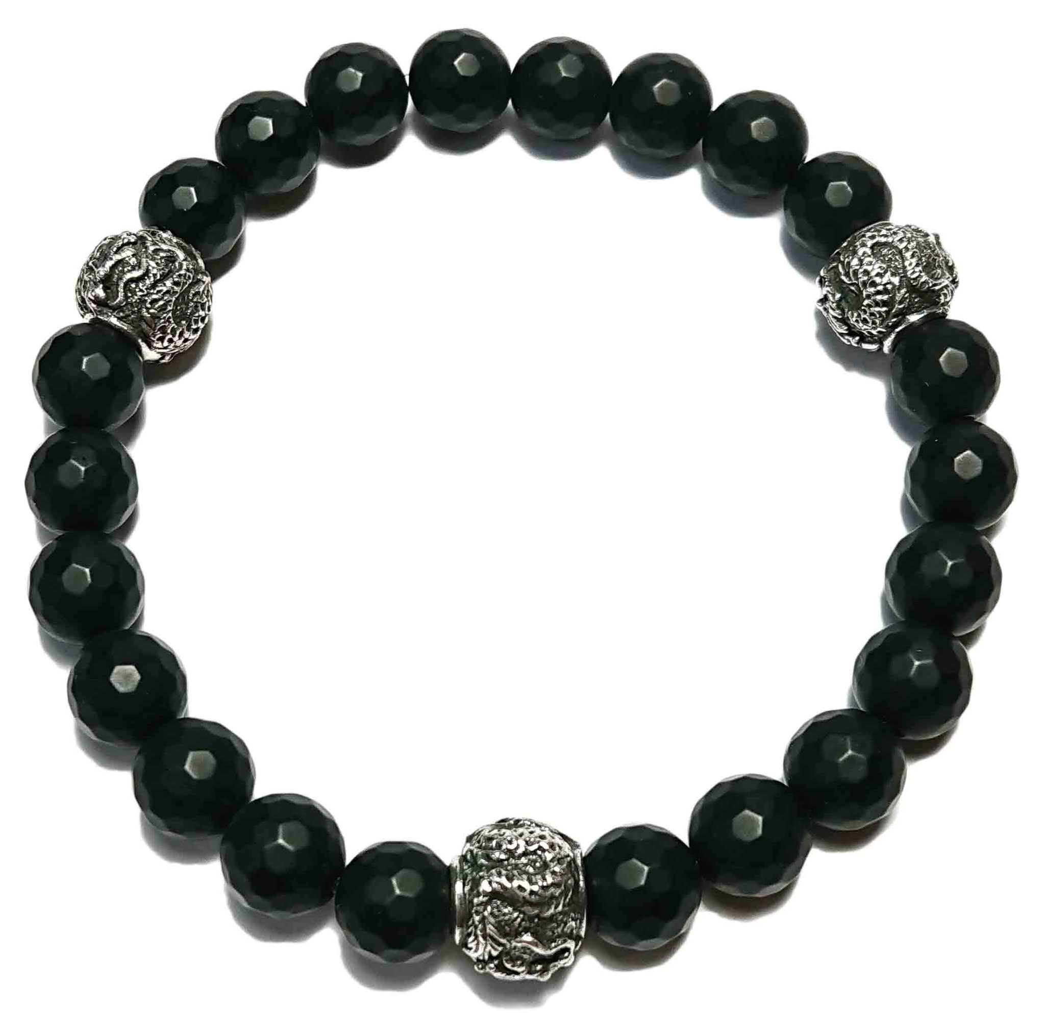 BEHERO Designer Armband Shenlong (matt schwarz)