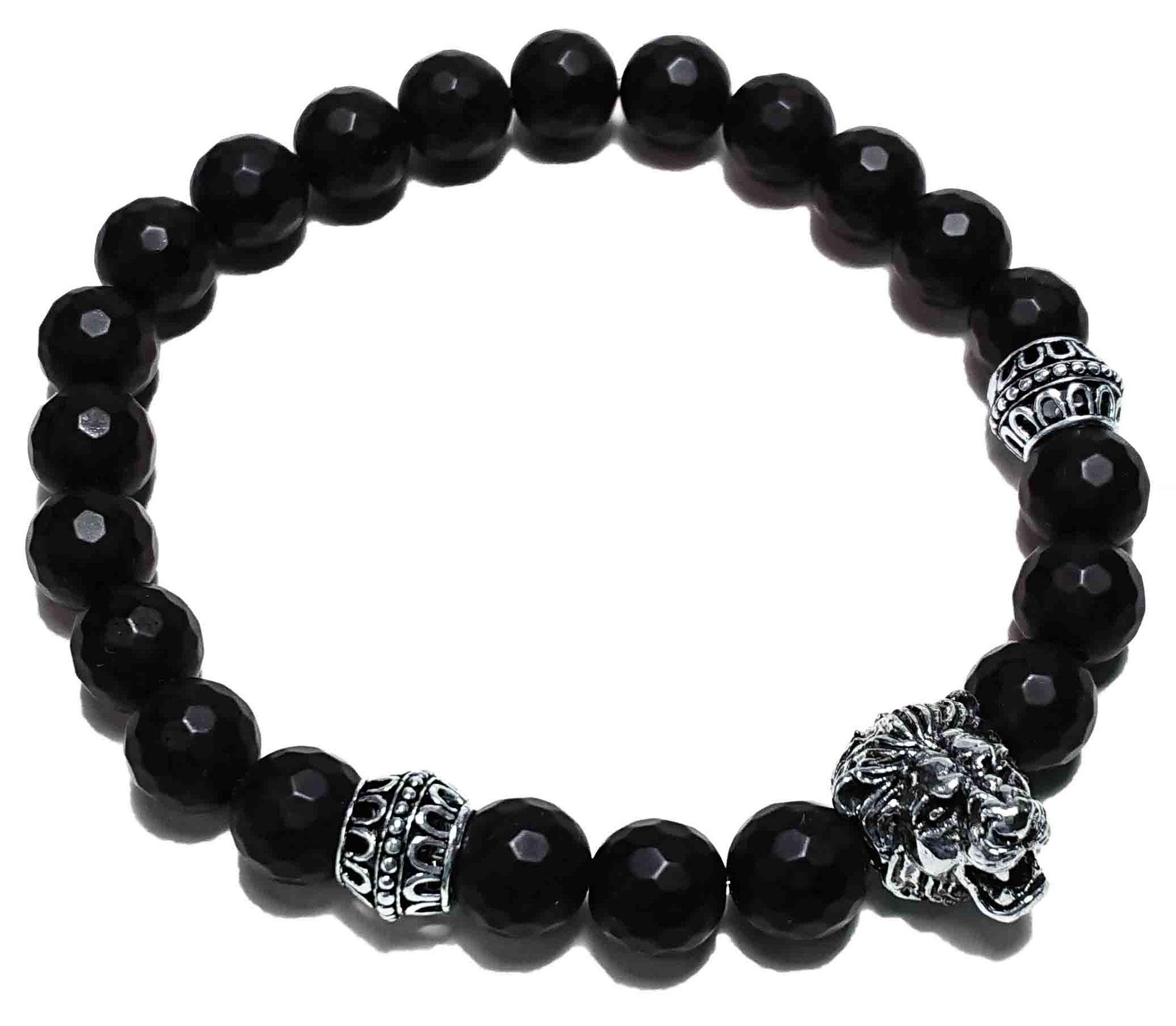 Lion (matt schwarz facet.) Armband