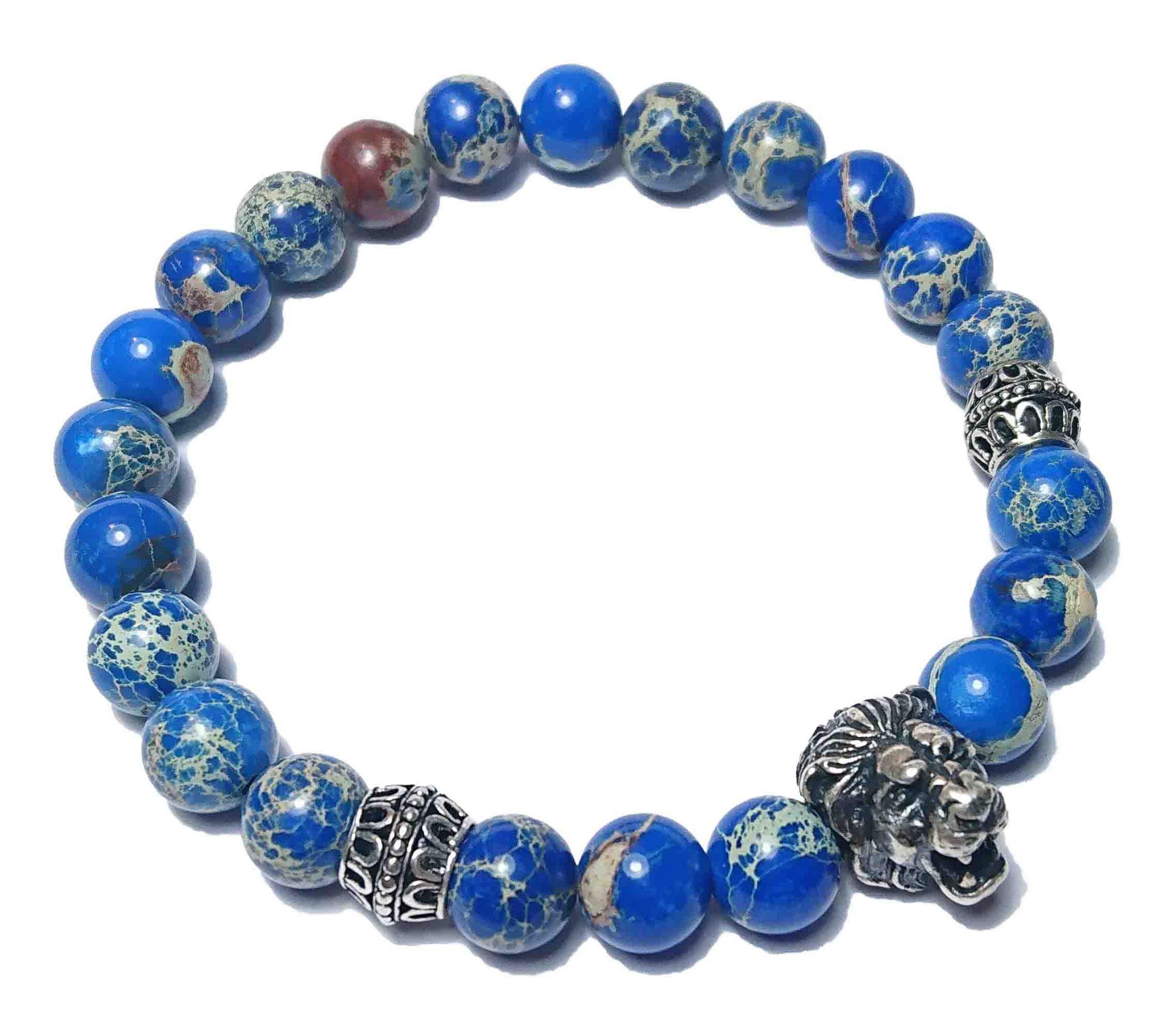 Lion (blau) Armband