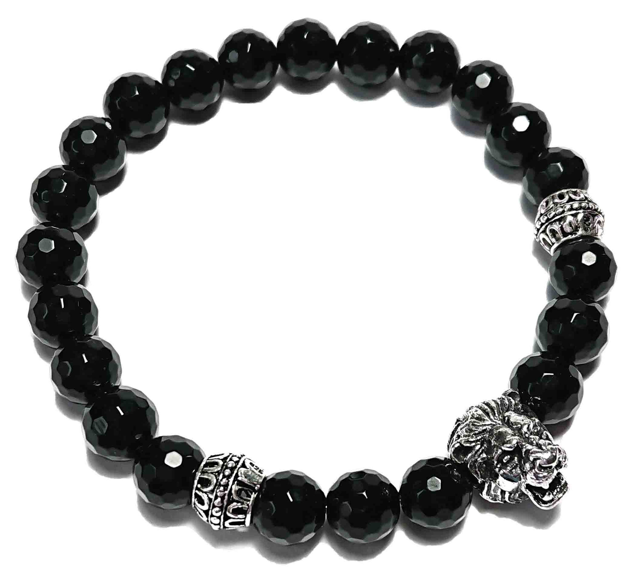 BEHERO Lion (schwarz facet.) Armband