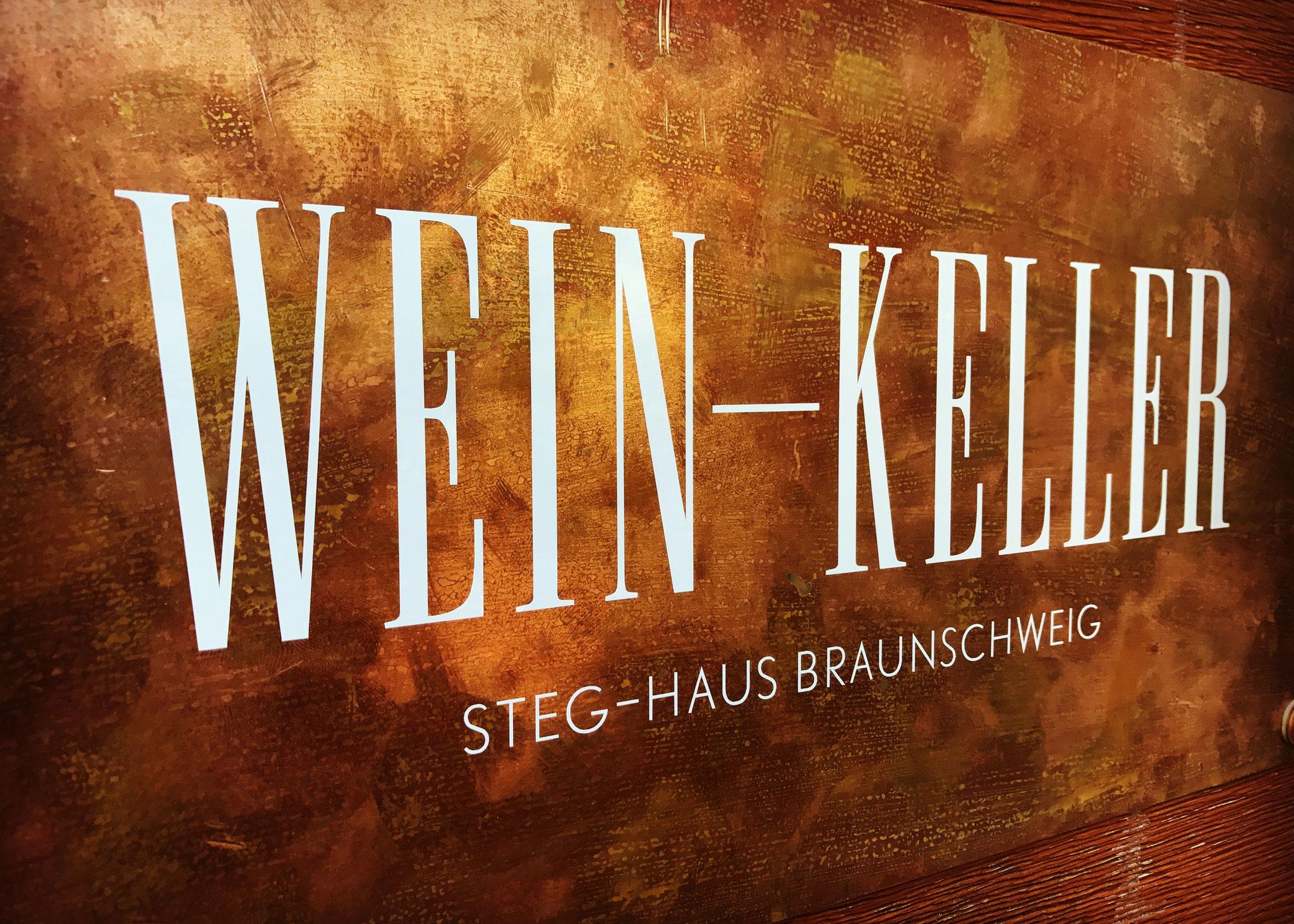 Der Weinkeller unseres Restaurants im StegHaus Braunschweig