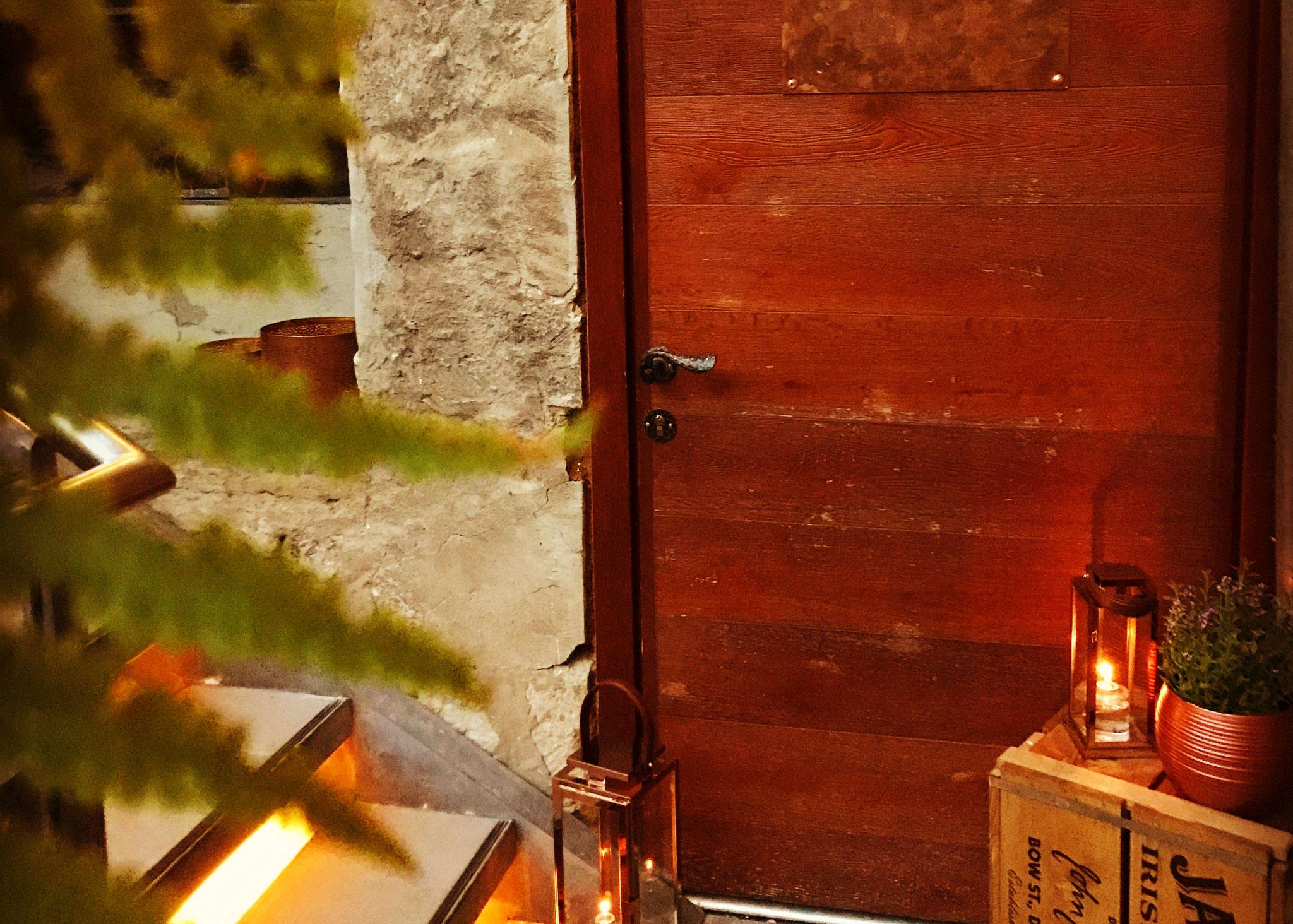 Der Weinkeller mit eigenem Zugang zur Okerterrasse unseres Restaurants