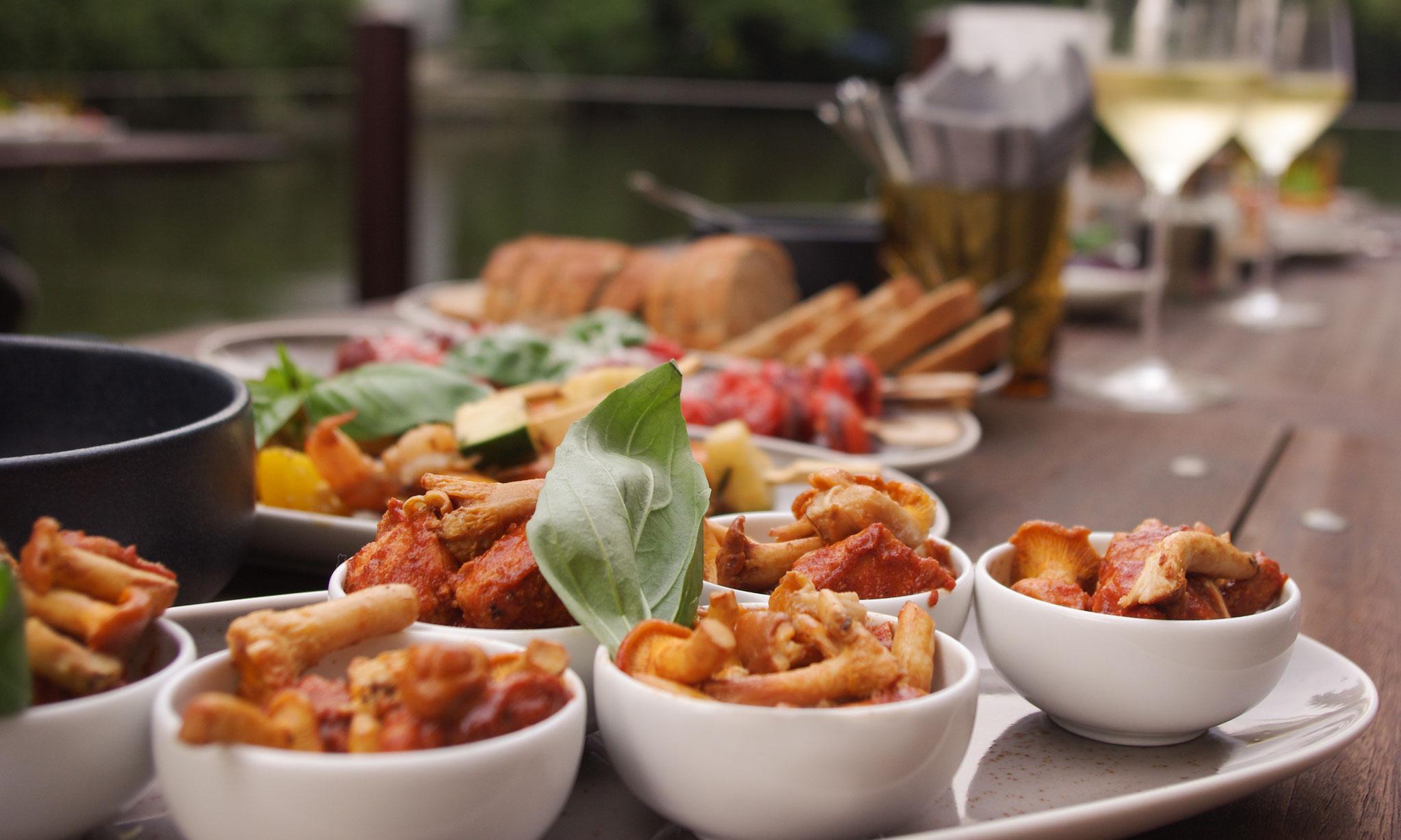 In unserem Restaurant legen wir viel Wert auf gutes saisonales und regionales Essen.
