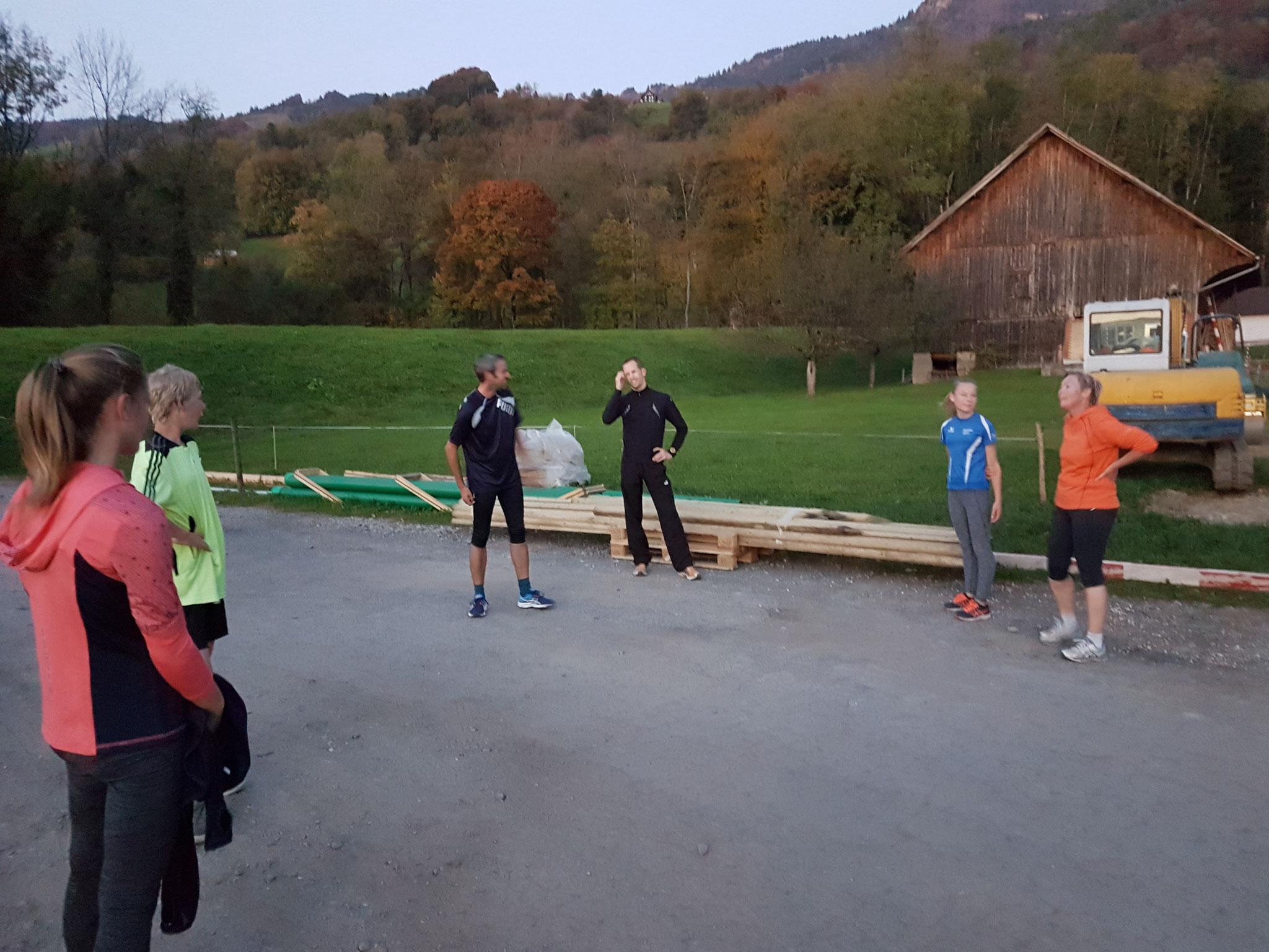 Nach dem Clubrennen haben wir uns jede Woche getroffen um zu trainieren