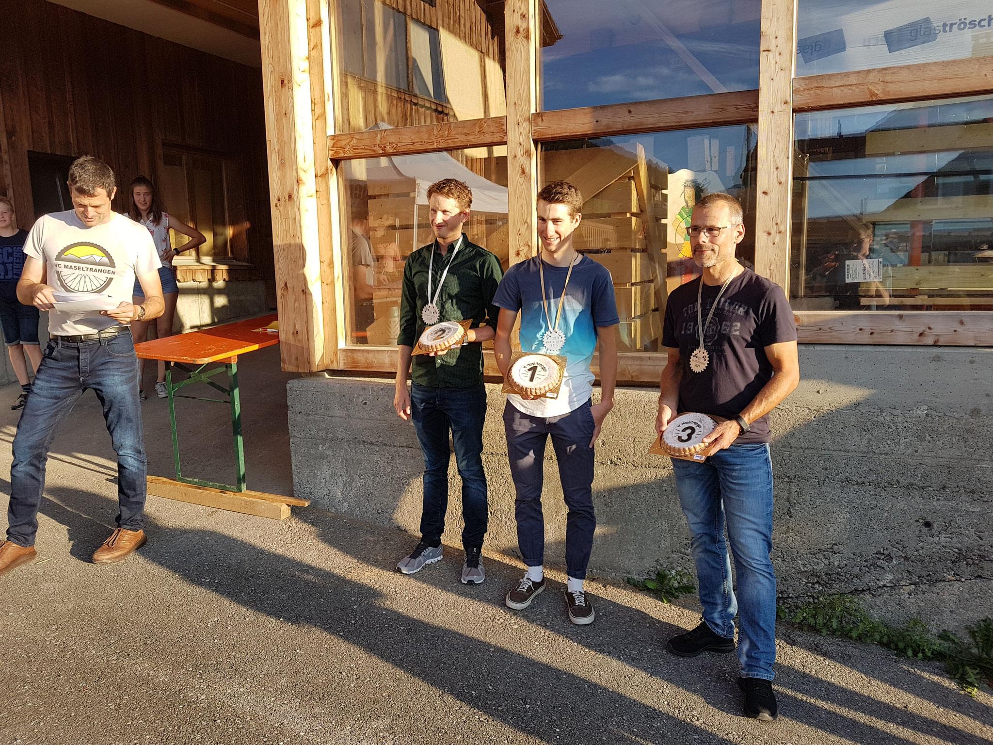 Herren Gäste: 1. Rang Kenny Dobler  2. Rang Florian Kaufmann  3. Rang Josef Schwitter