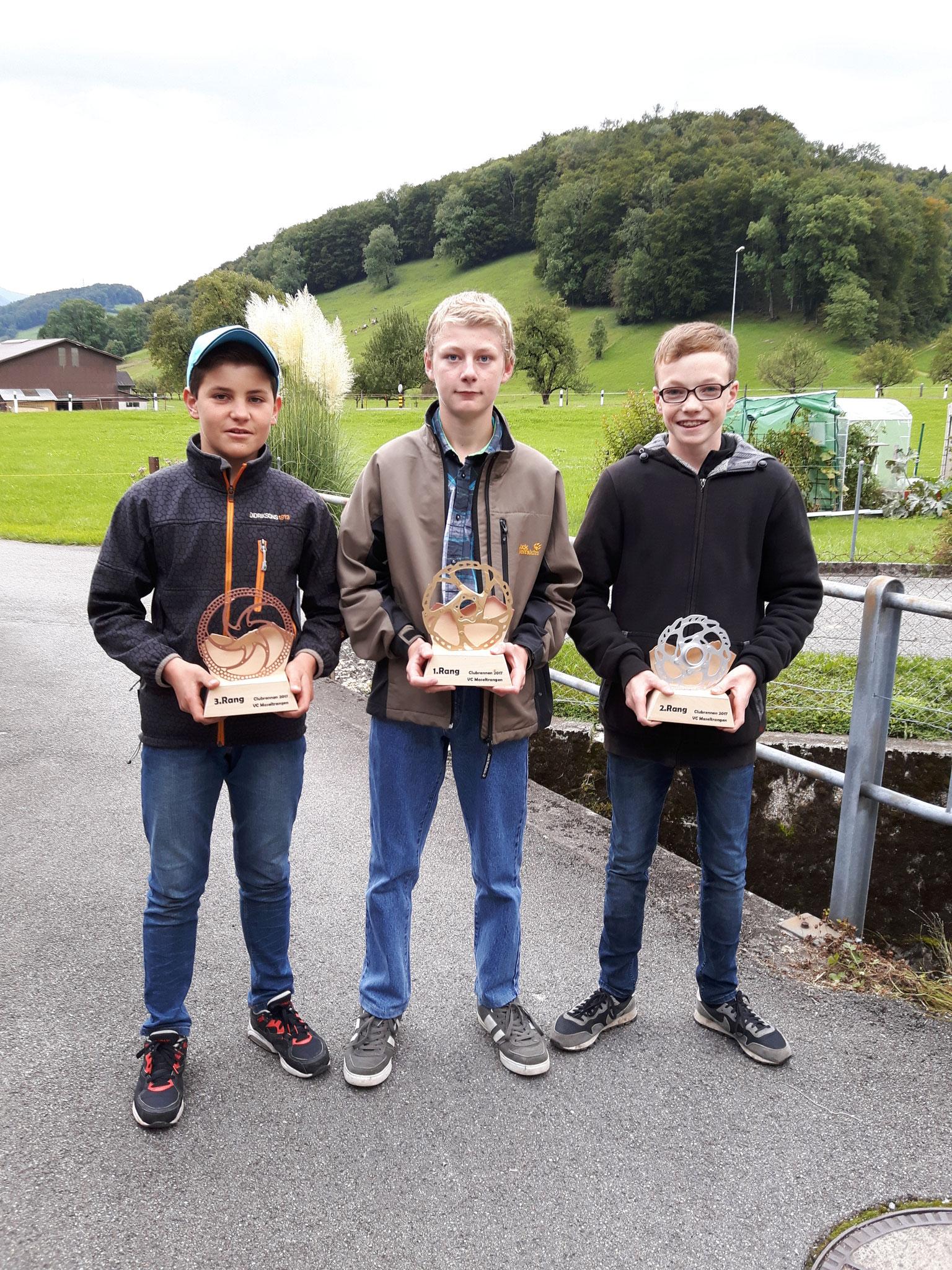 Club Junioren: 1.Rang Lukas Luchsinger  2.Rang Andrin Egli  3.Rang Simon Seliner