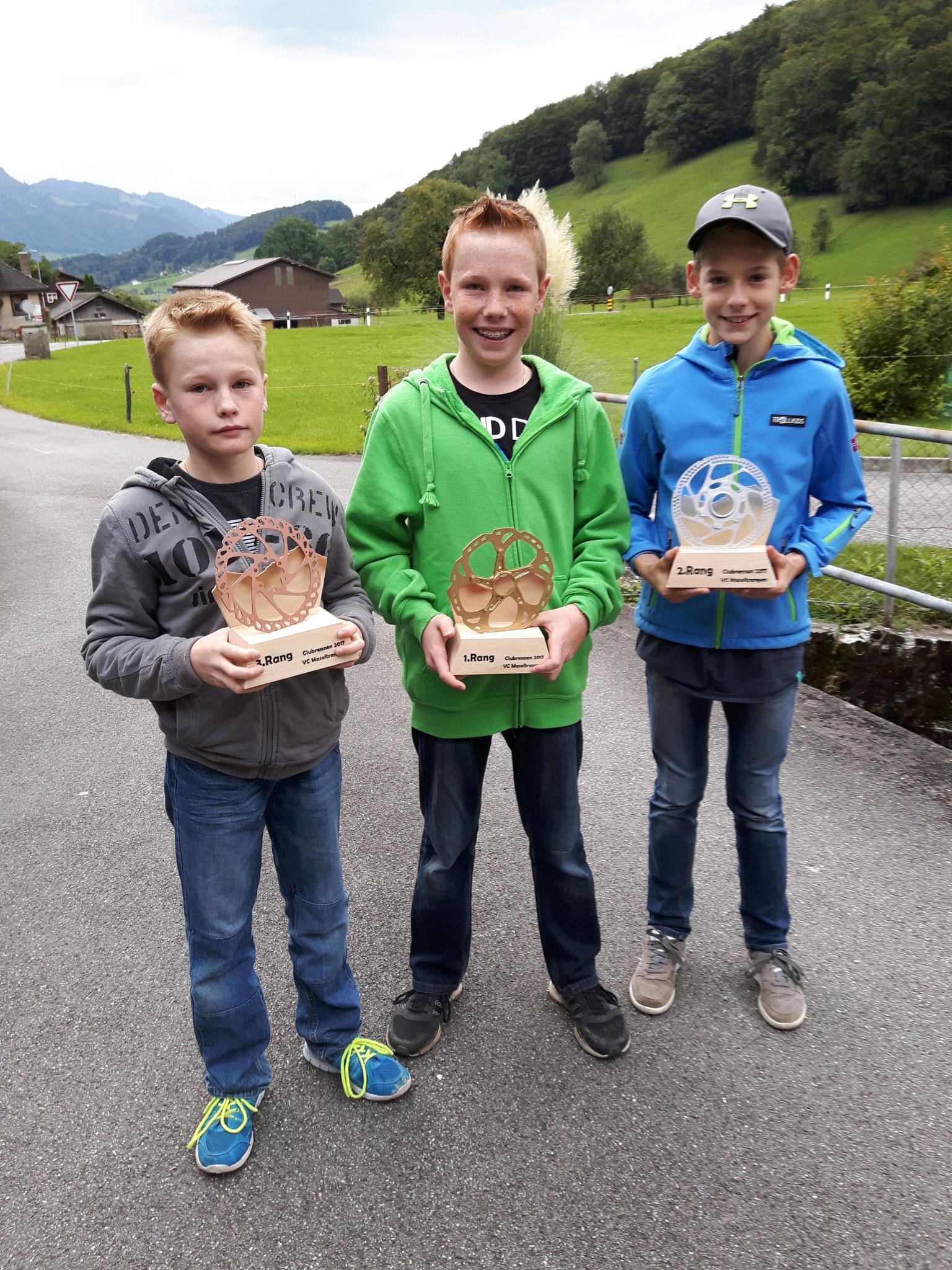 Club Nachwuchs Knaben: 1.Rang Florian Egli  2.Rang Joel Zahner  3.Rang Simon Egli