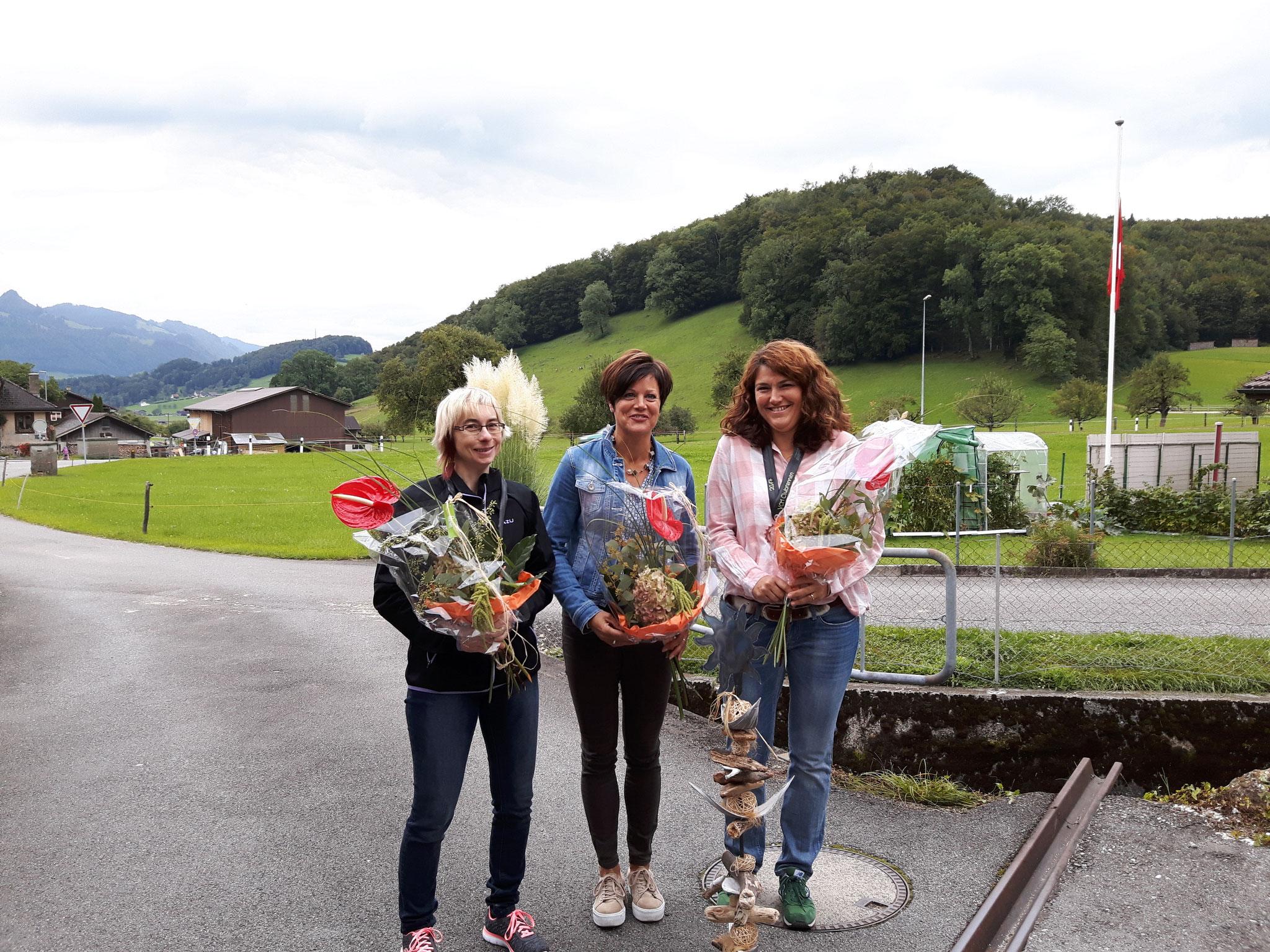 1.Rang  Cilli Steiner  2.Rang Claudia Notararigo 3.Rang Ursi Bregg