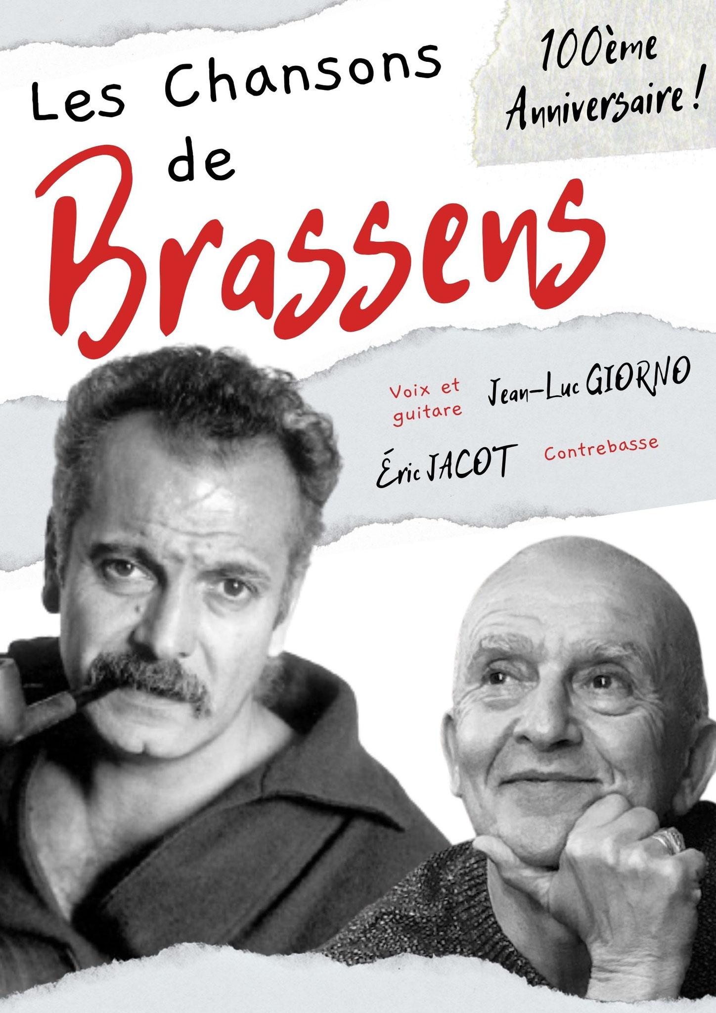 Concert: Les chansons de G. BRASSENS - Le 22 & 23 octobre