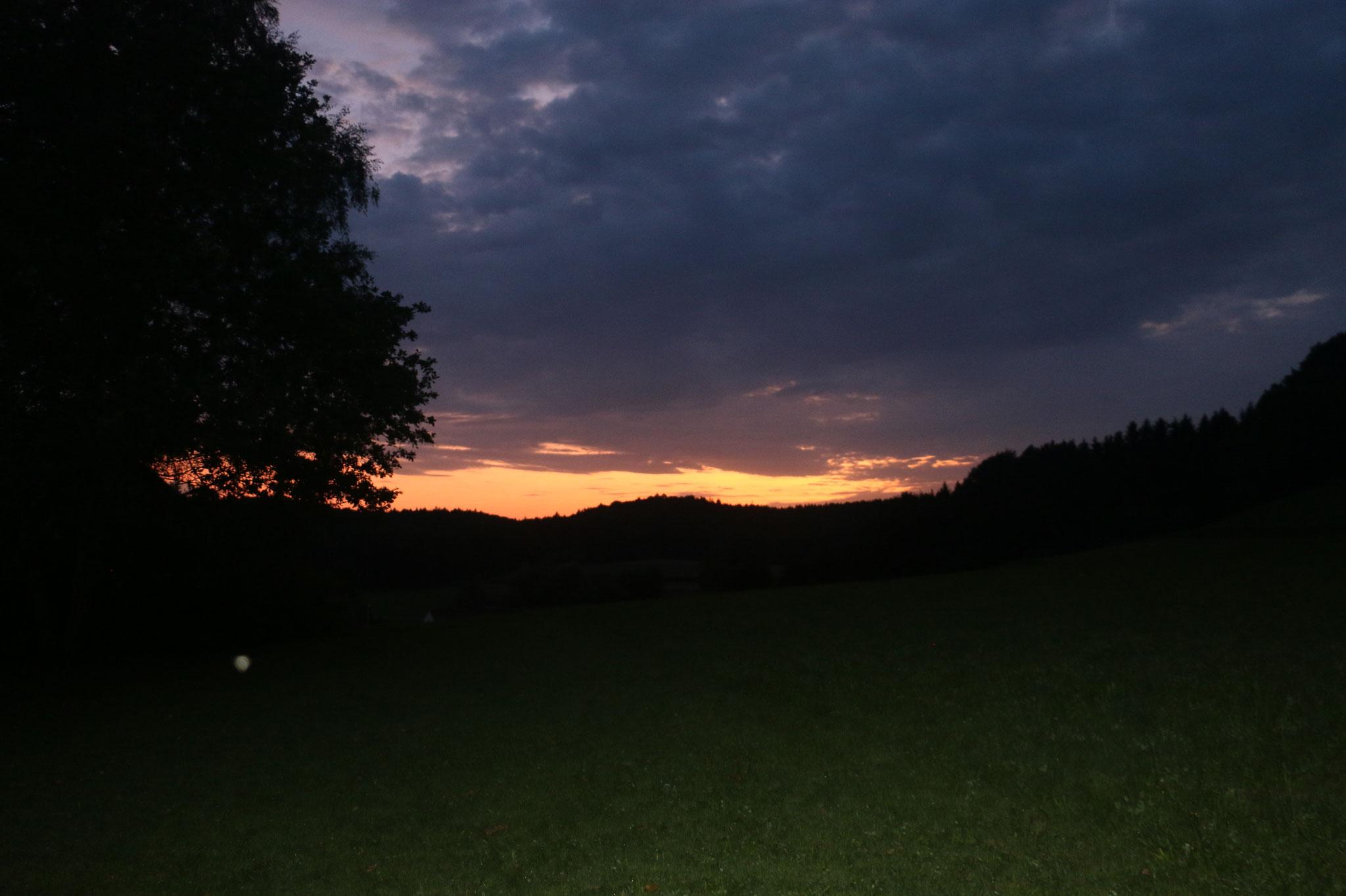 Abendstimmung während der Erfassung