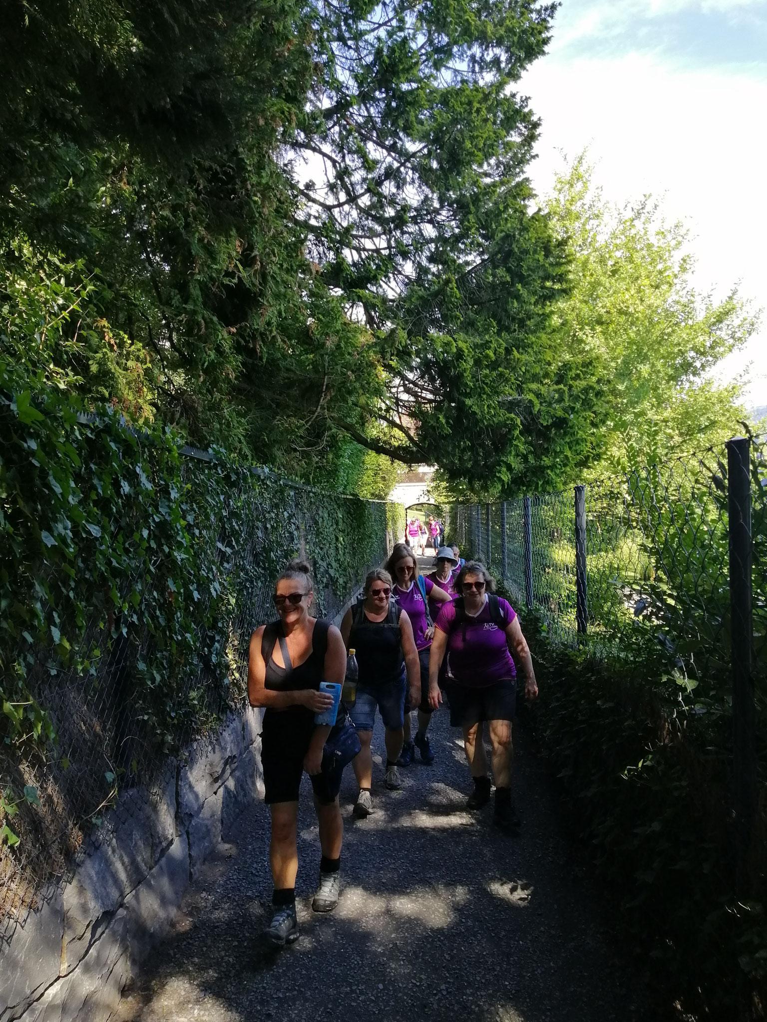 Von Meggen aus ging es weiter zum Meggerhorn.