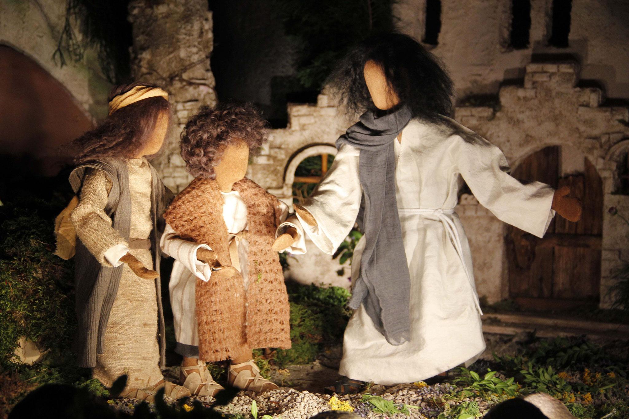 Als sich Jesus mit seinen Begleitern Jerusalem näherte und nach Betfage am Ölberg kam, schickte er zwei Jünger voraus und sagte zu ihnen: