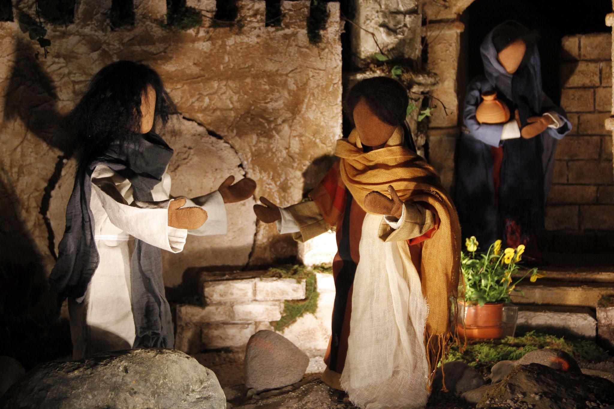 Als Marta hörte, dass Jesus komme, ging sie ihm entgegen, Maria aber blieb im Haus. Marta sagte: Herr, wärst du hier gewesen, dann wäre mein Bruder nicht gestorben.