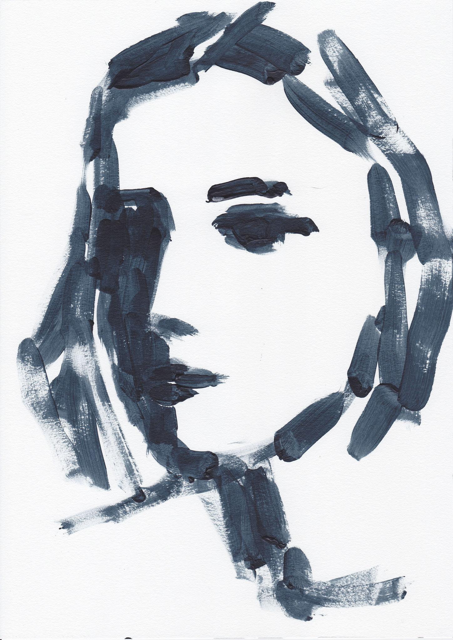 026 , acrylic on paper , 29.7 x 21cm , Selina Saranova