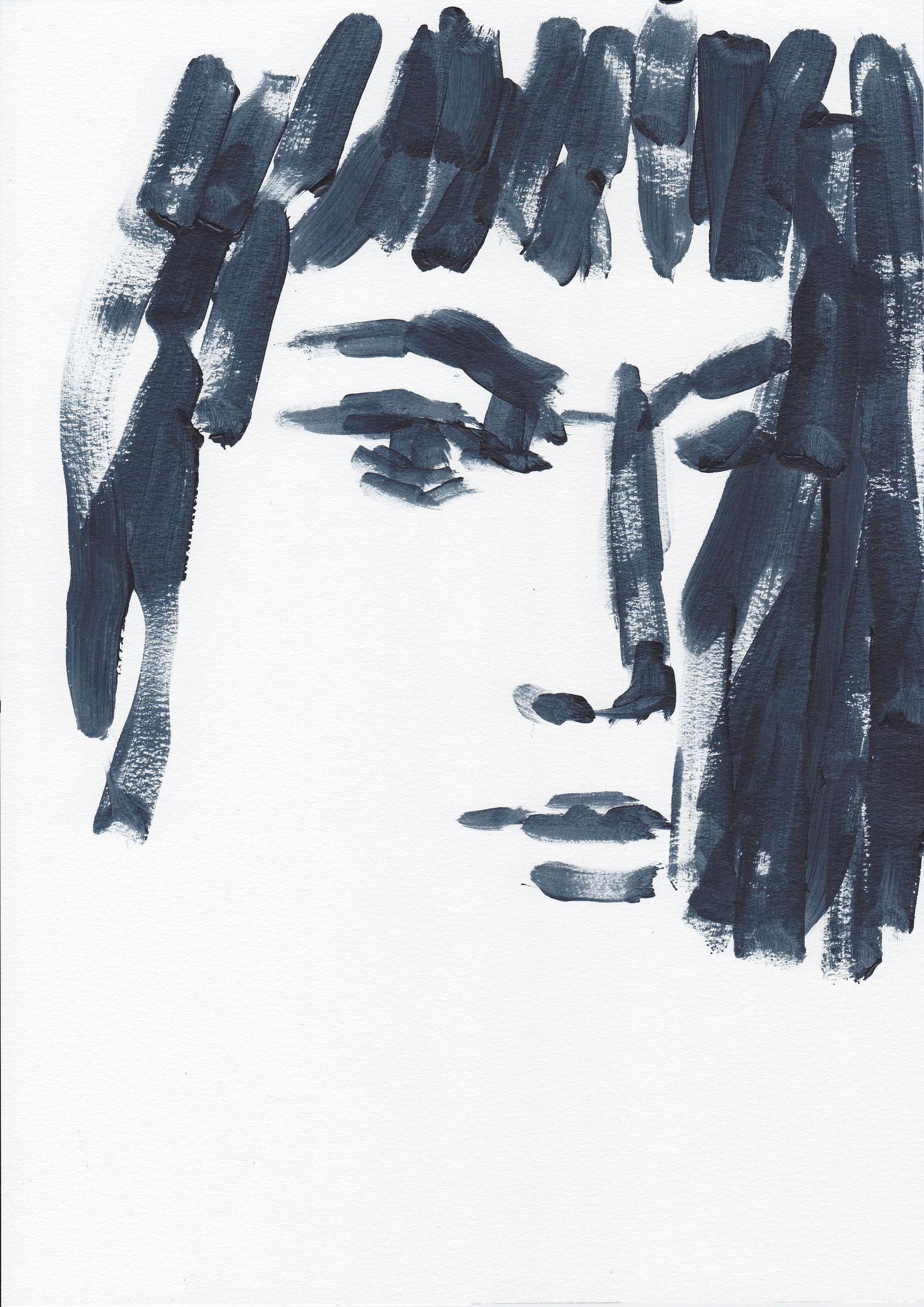 024 , acrylic on paper , 29.7 x 21cm , Selina Saranova