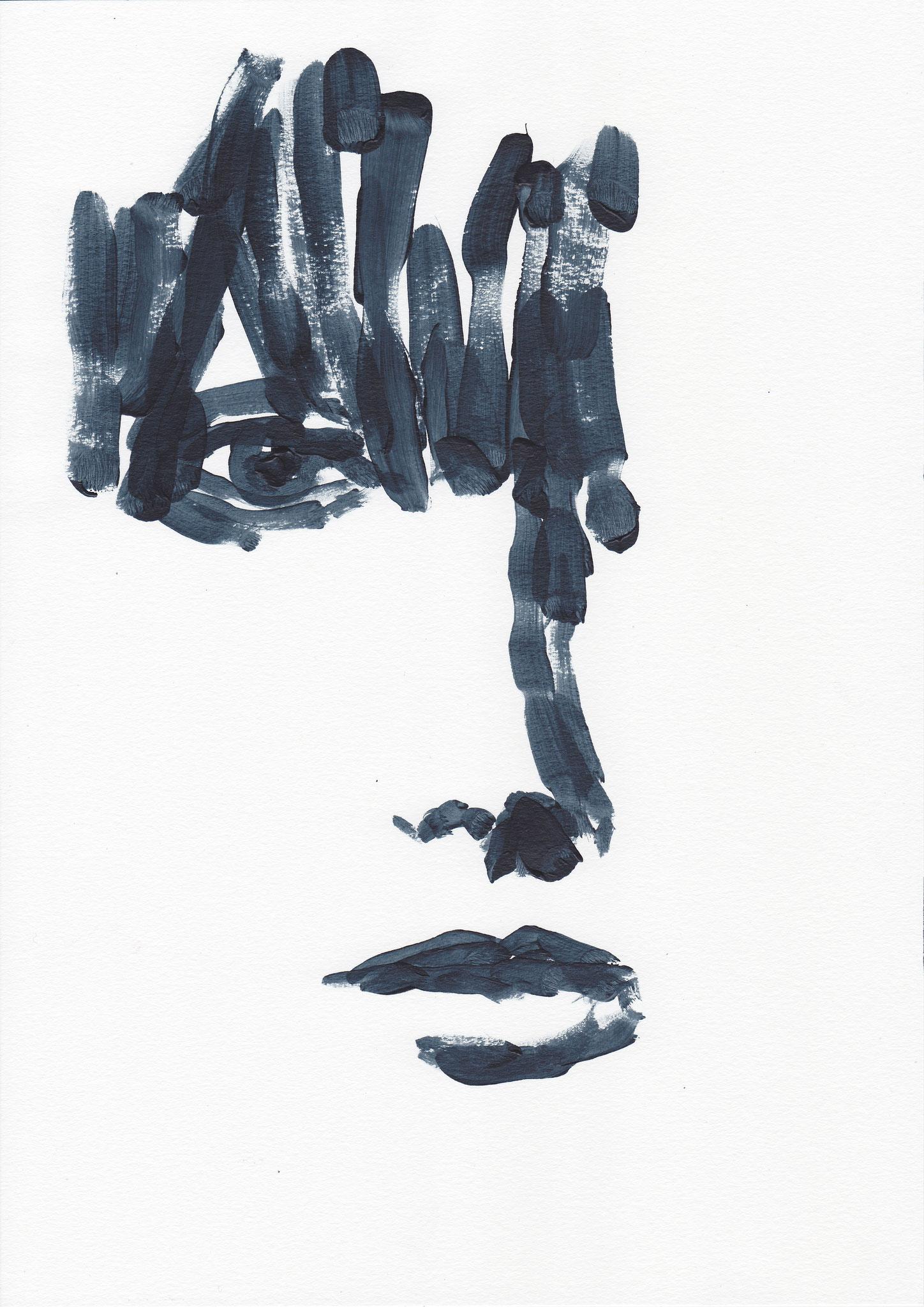 084 , acrylic on paper , 29.7 x 21cm , Selina Saranova