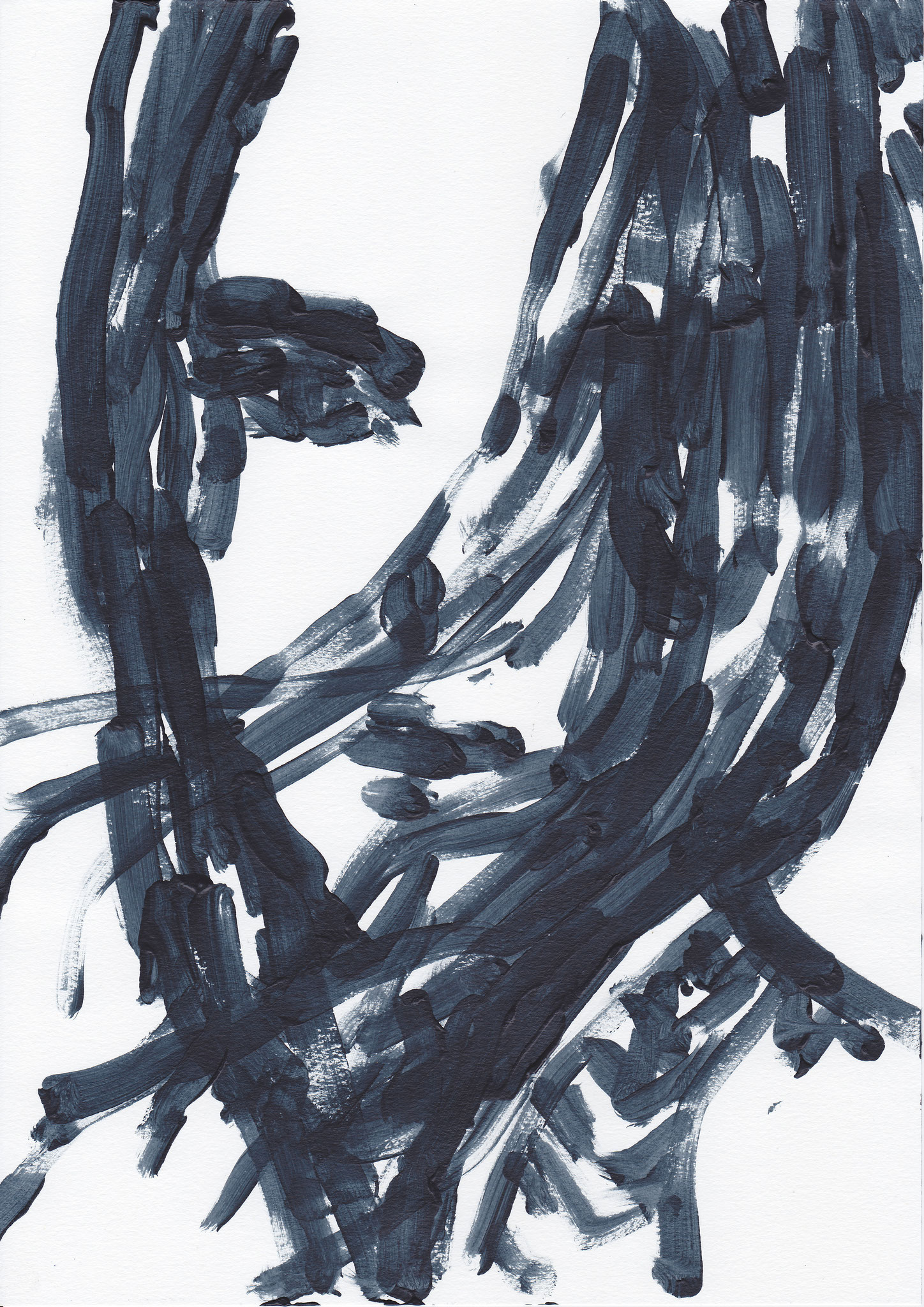019 , acrylic on paper , 29.7 x 21cm , Selina Saranova