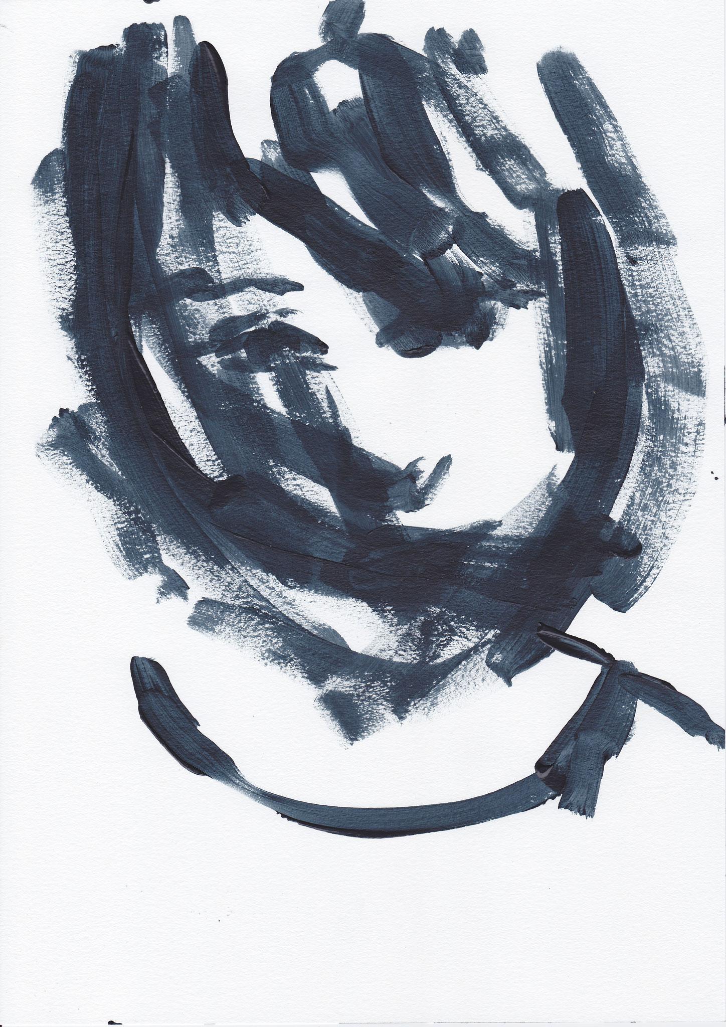 065 , acrylic on paper , 29.7 x 21cm , Selina Saranova