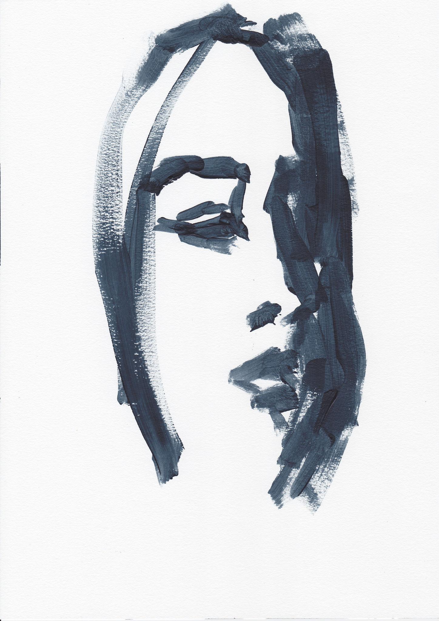 008 , acrylic on paper , 29.7 x 21cm , Selina Saranova