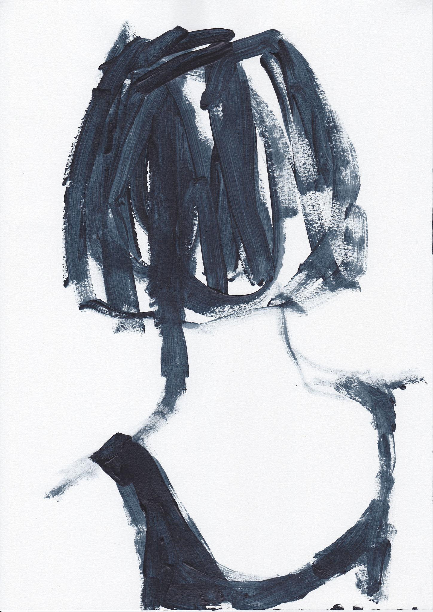 037 , acrylic on paper , 29.7 x 21cm , Selina Saranova