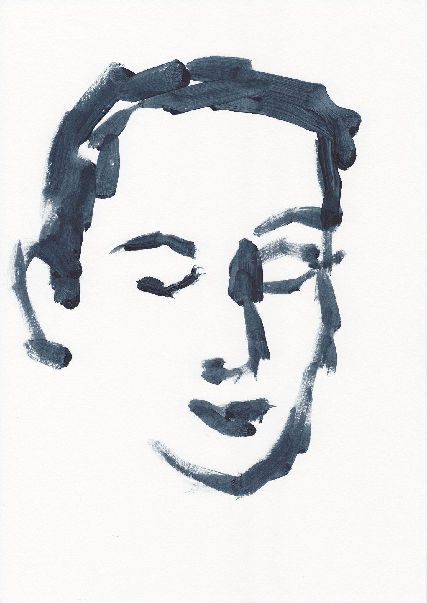 005 , acrylic on paper , 29.7 x 21cm , Selina Saranova