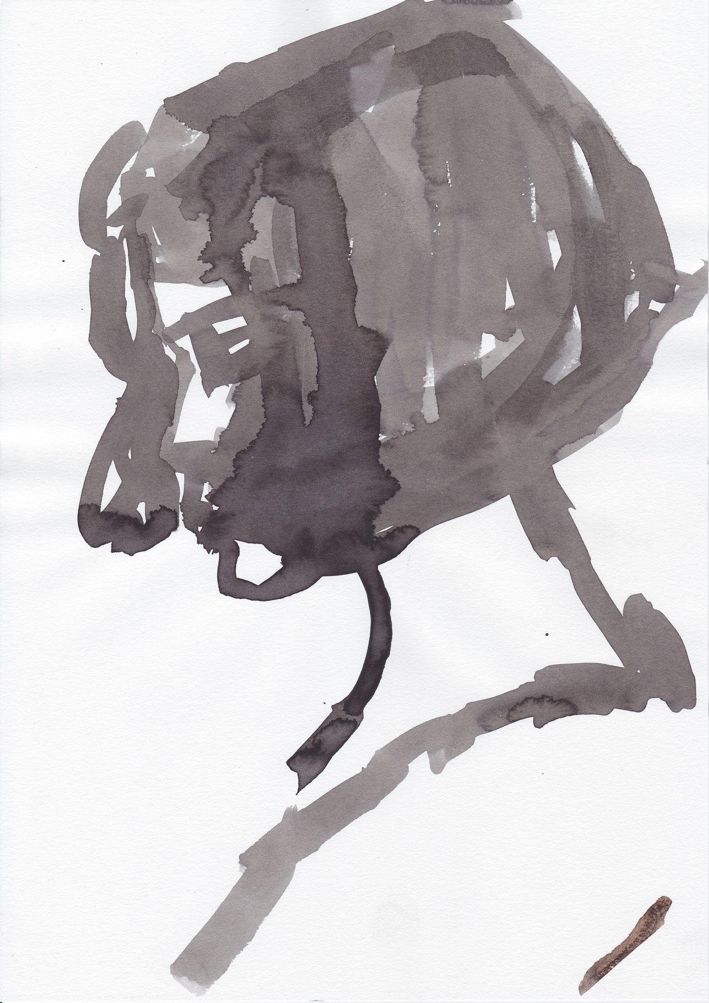015 , inc on paper , 29.7 x 21cm , Selina Saranova