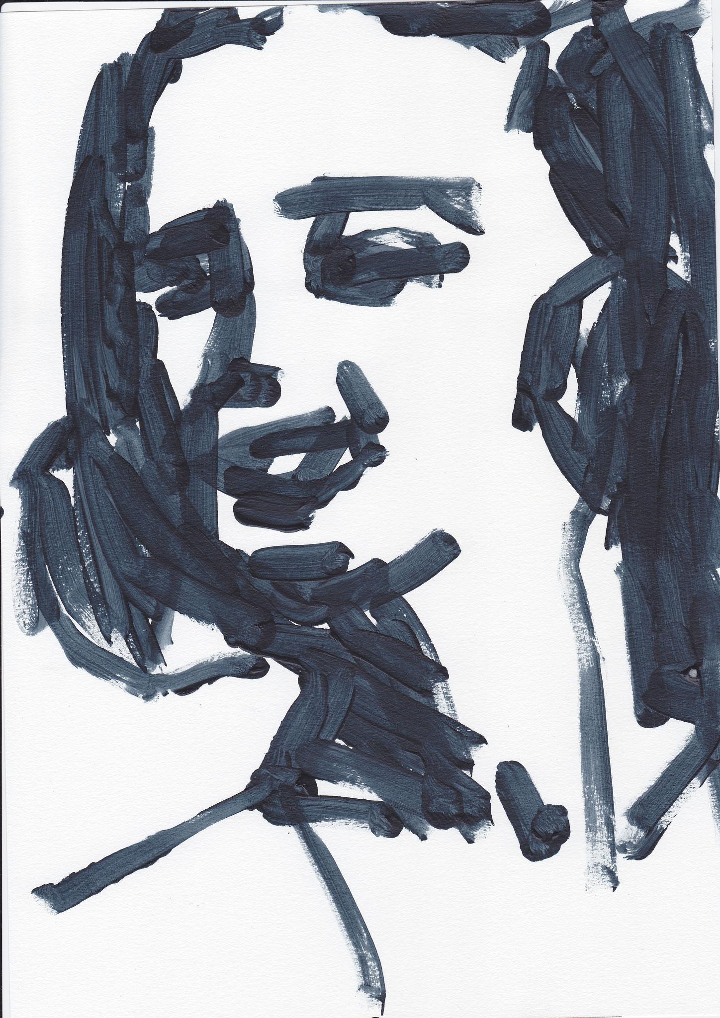 006 , acrylic on paper , 29.7 x 21cm , Selina Saranova
