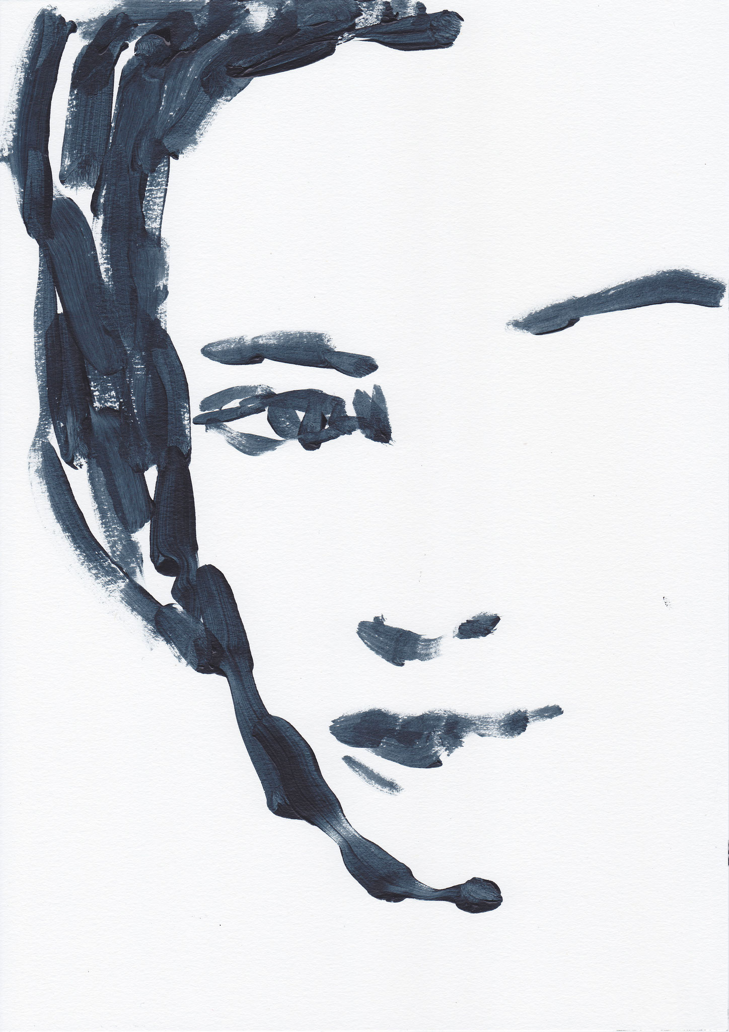 049 , acrylic on paper , 29.7 x 21cm , Selina Saranova