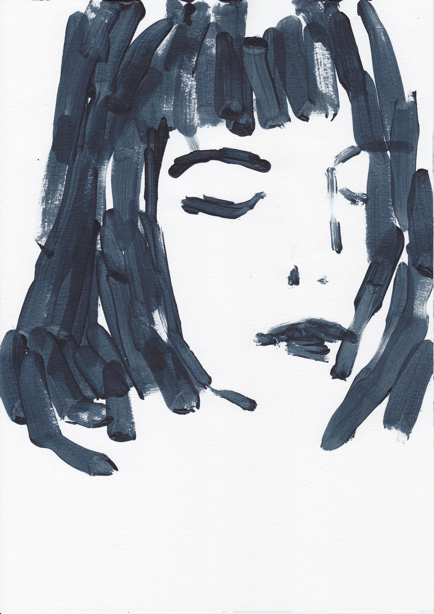 016 , acrylic on paper , 29.7 x 21cm , Selina Saranova