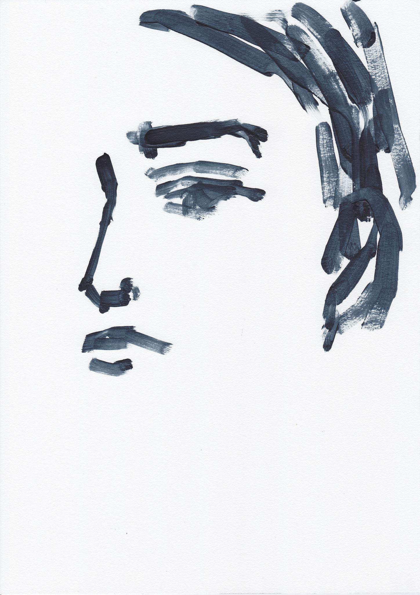 054 , acrylic on paper , 29.7 x 21cm , Selina Saranova