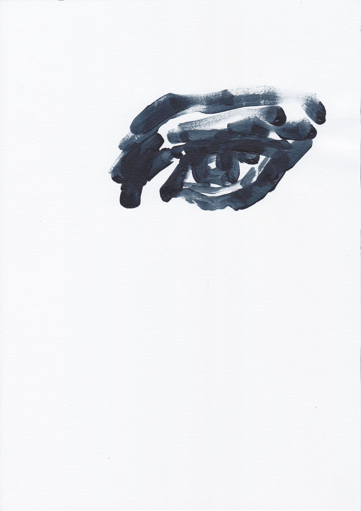 066 , acrylic on paper , 29.7 x 21cm , Selina Saranova