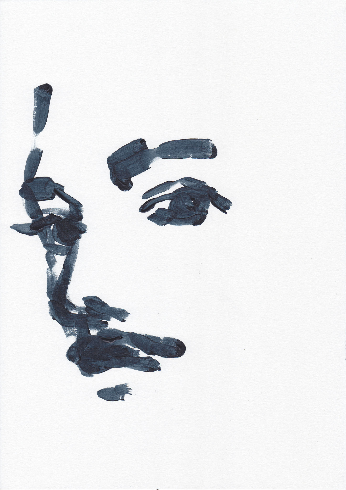 010 , acrylic on paper , 29.7 x 21cm , Selina Saranova