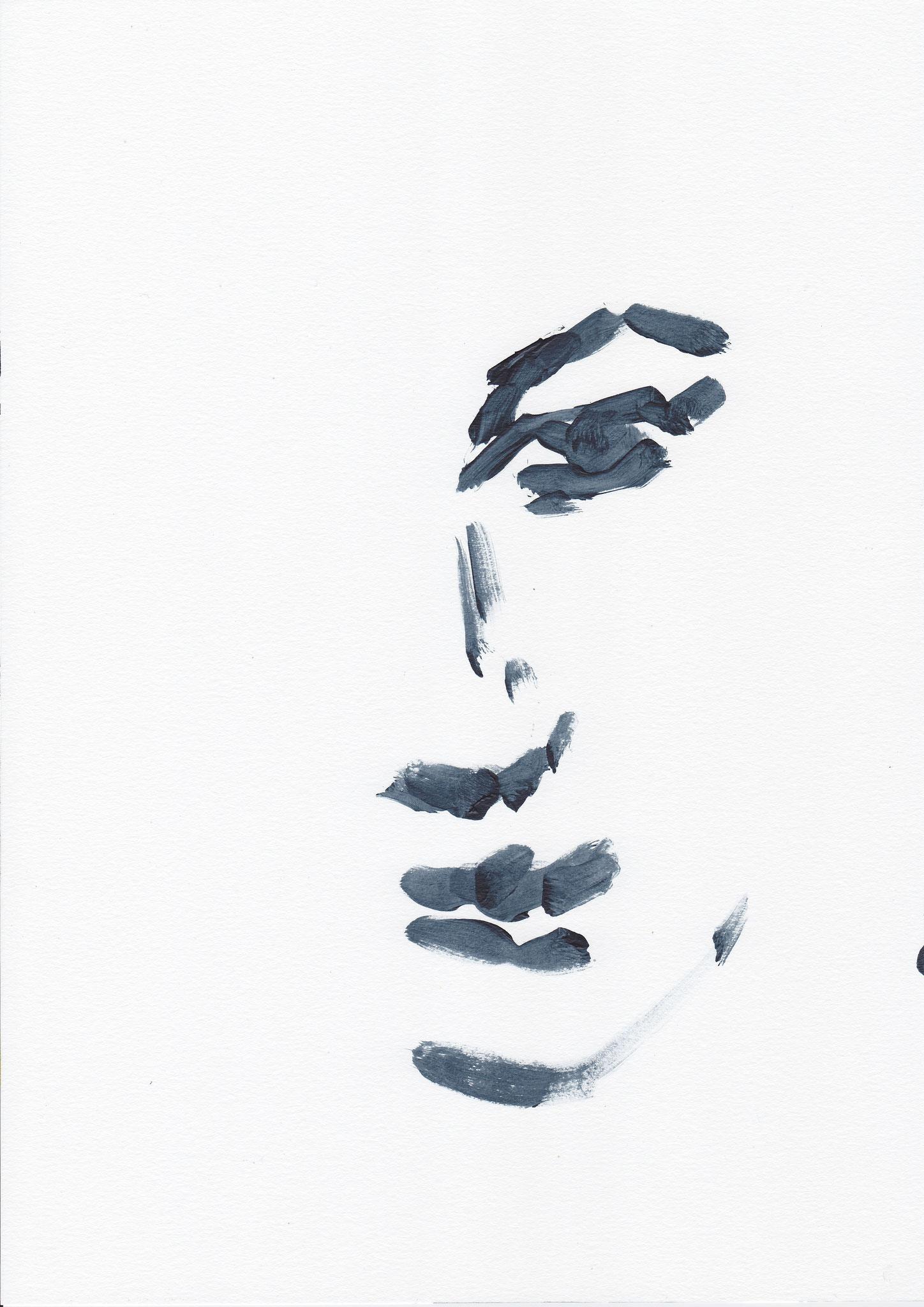 021 , acrylic on paper , 29.7 x 21cm , Selina Saranova