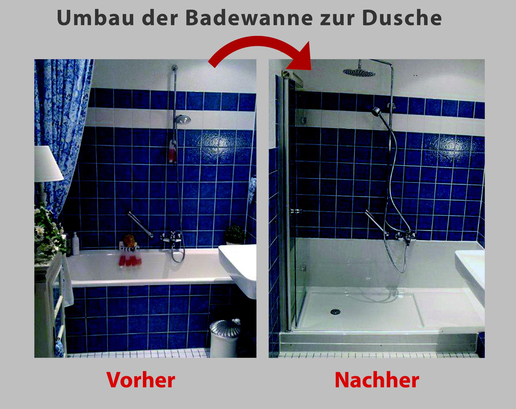 Wanne zur Dusche - Badewanne raus – Dusche rein - Bad ...