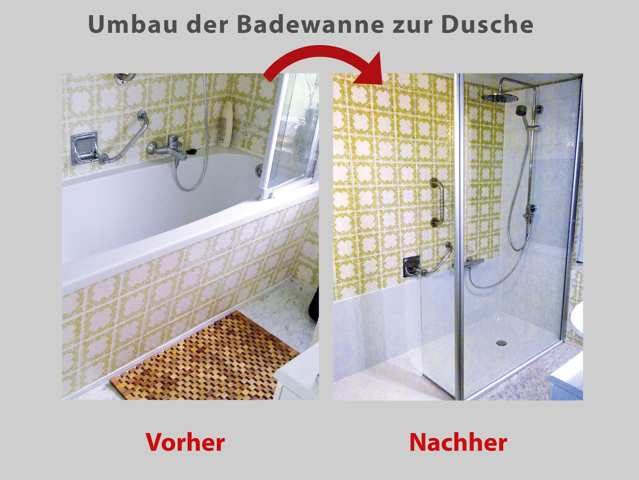 wanne zur dusche badewanne raus dusche rein bad teilsanierung mit system. Black Bedroom Furniture Sets. Home Design Ideas