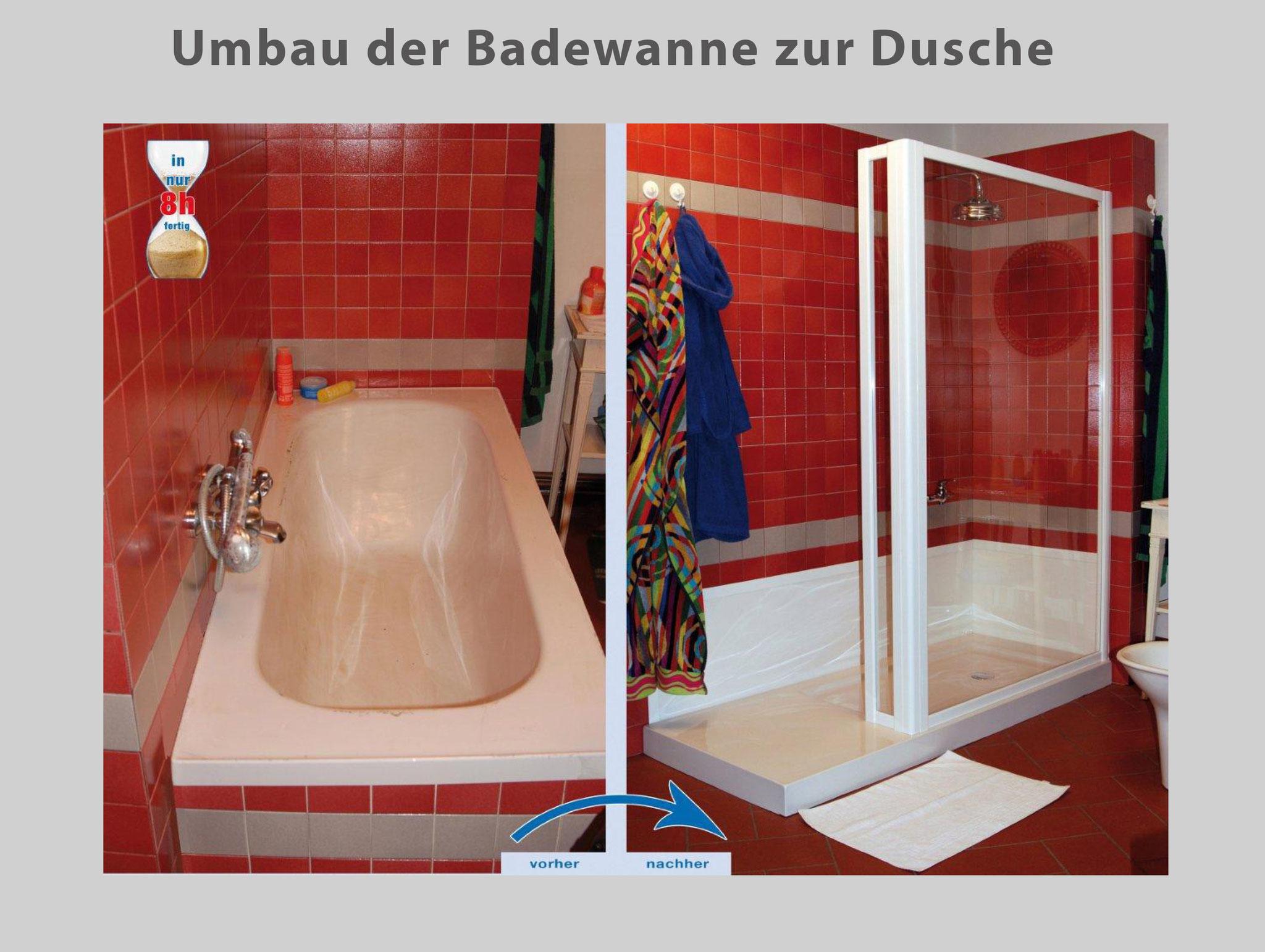 Wanne zur Dusche - Badewanne raus – Dusche rein - Bad Teilsanierung ...