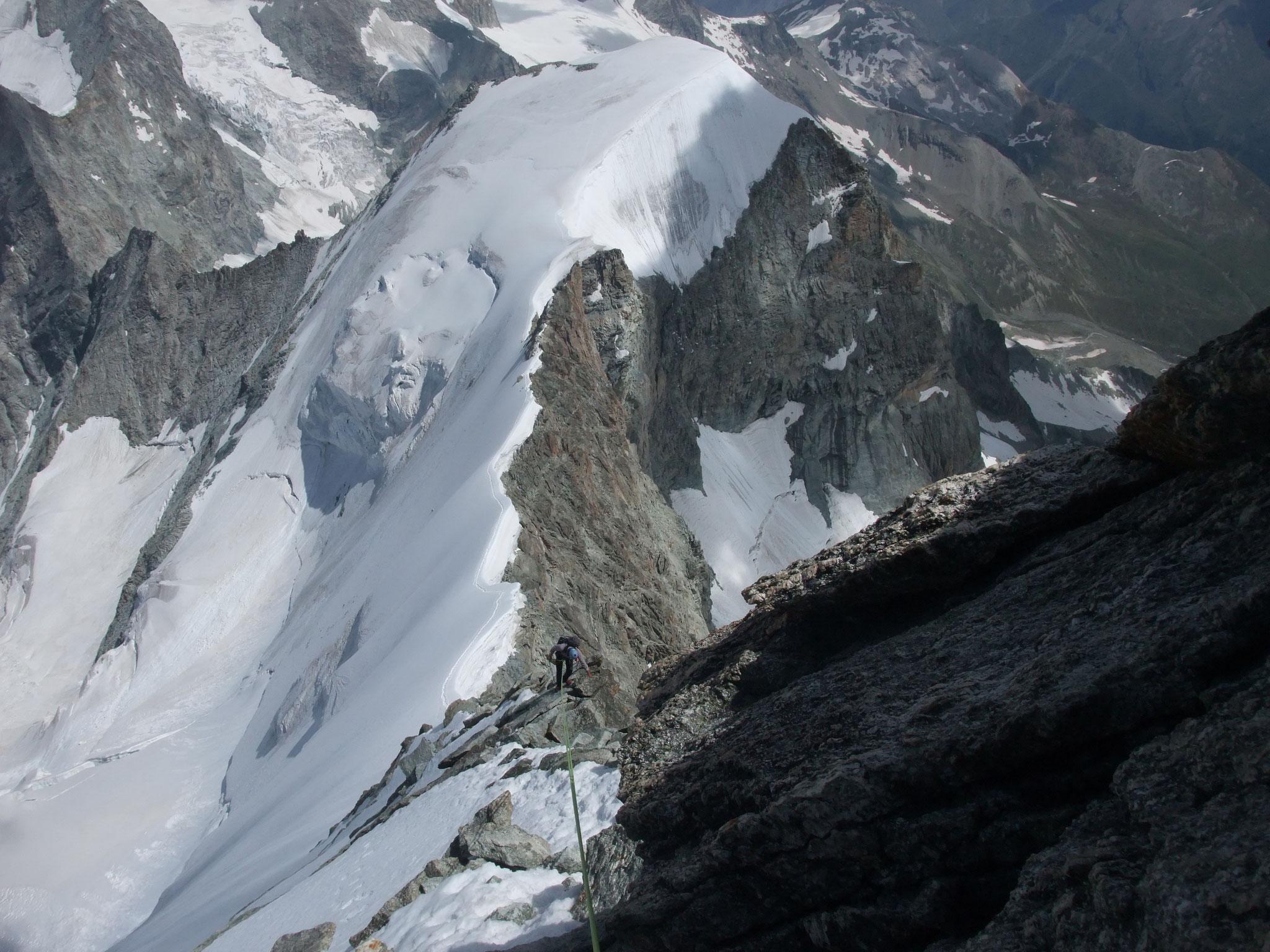 Abseilen vom Obergabelhorn-unten Klucknerturm und Wellenkuppe