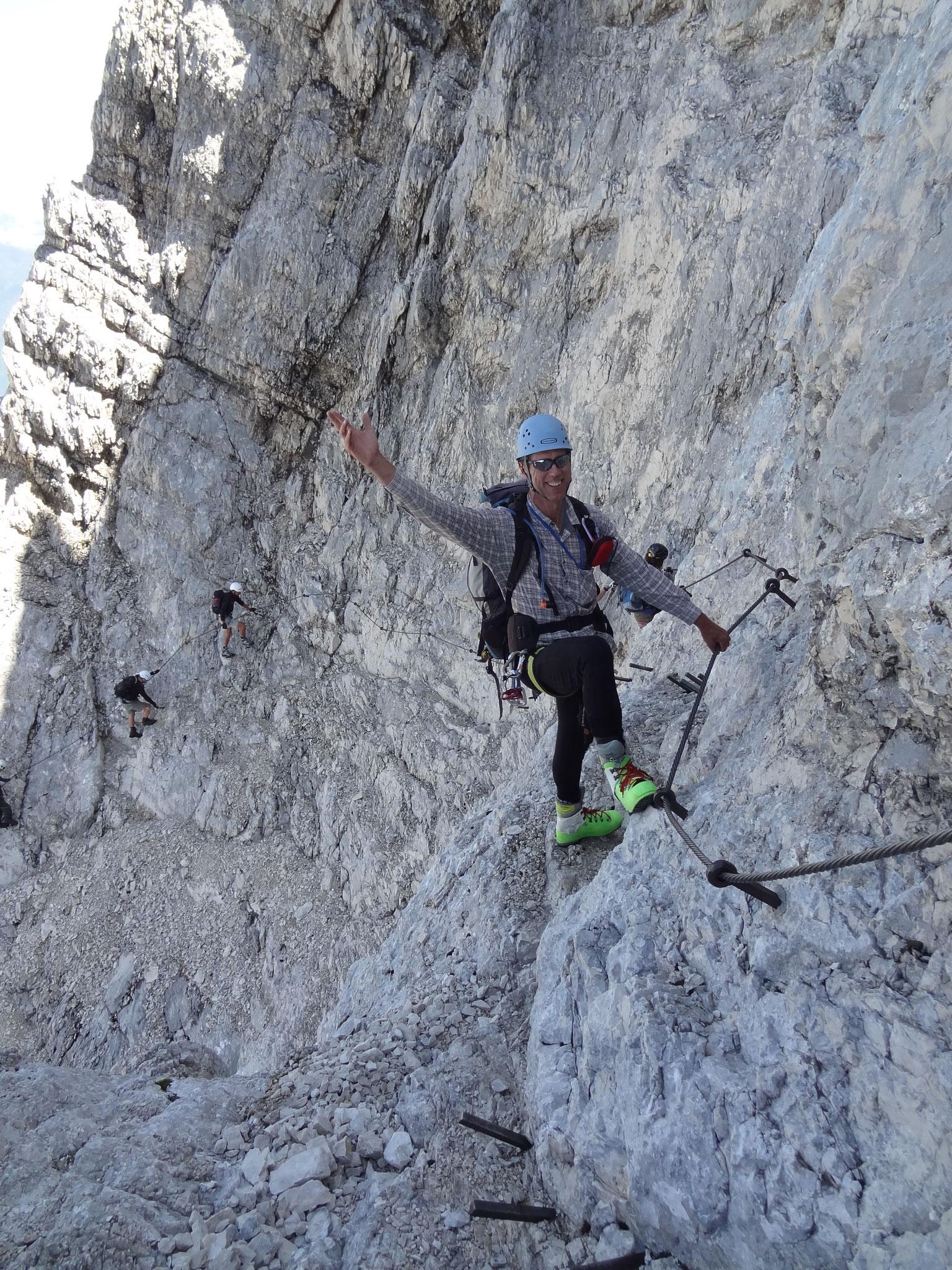 Abstieg von der Alpspitze über die Alpspitz-Ferrata
